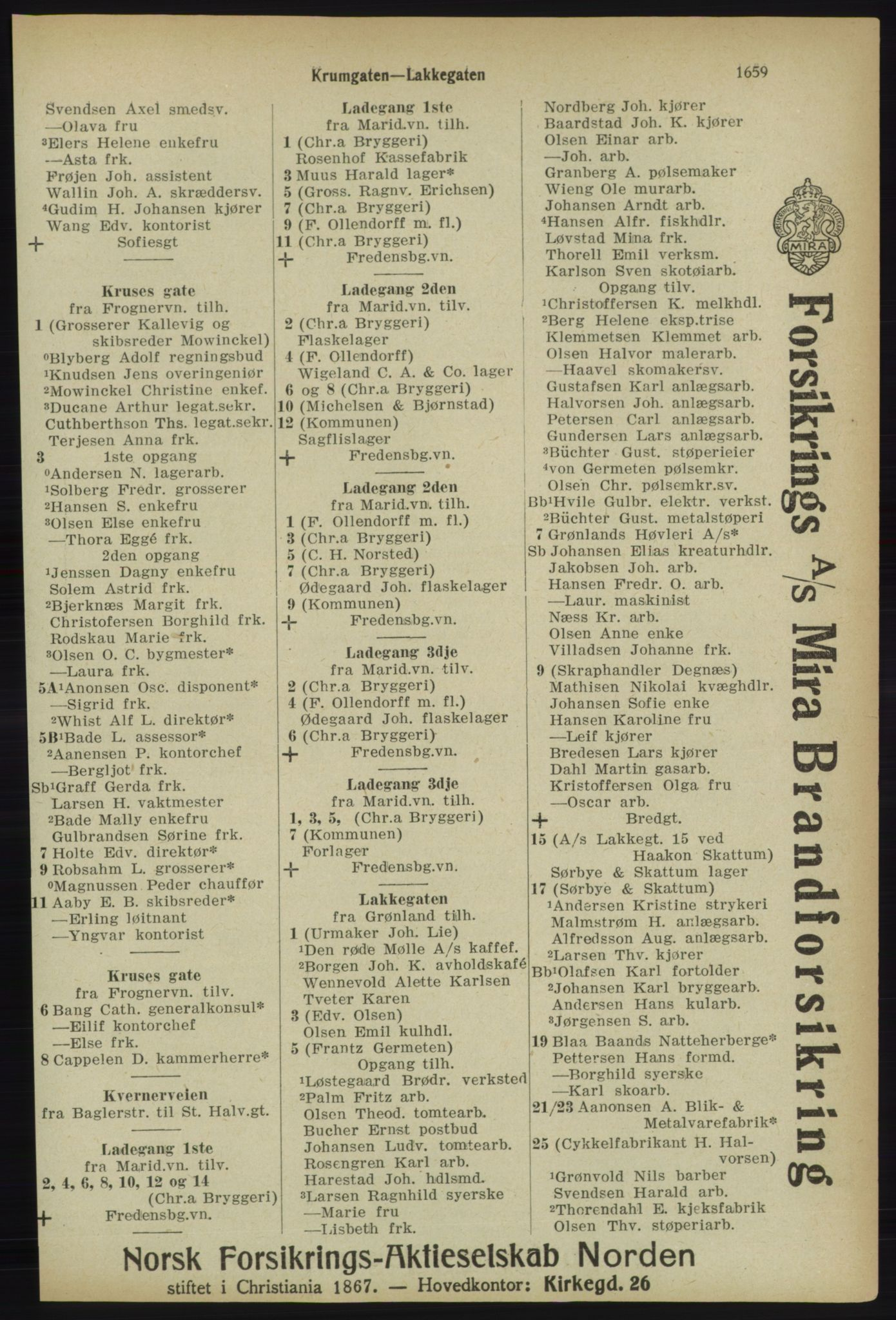 PUBL, Kristiania/Oslo adressebok, 1918, s. 1812