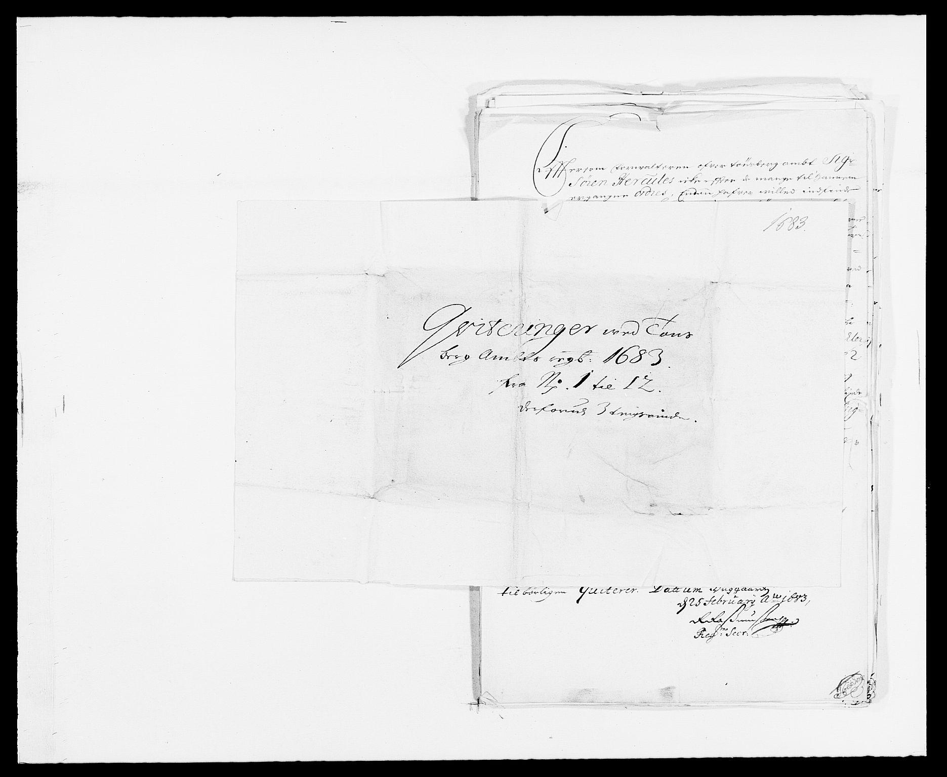 RA, Rentekammeret inntil 1814, Reviderte regnskaper, Fogderegnskap, R32/L1853: Fogderegnskap Jarlsberg grevskap, 1683, s. 169