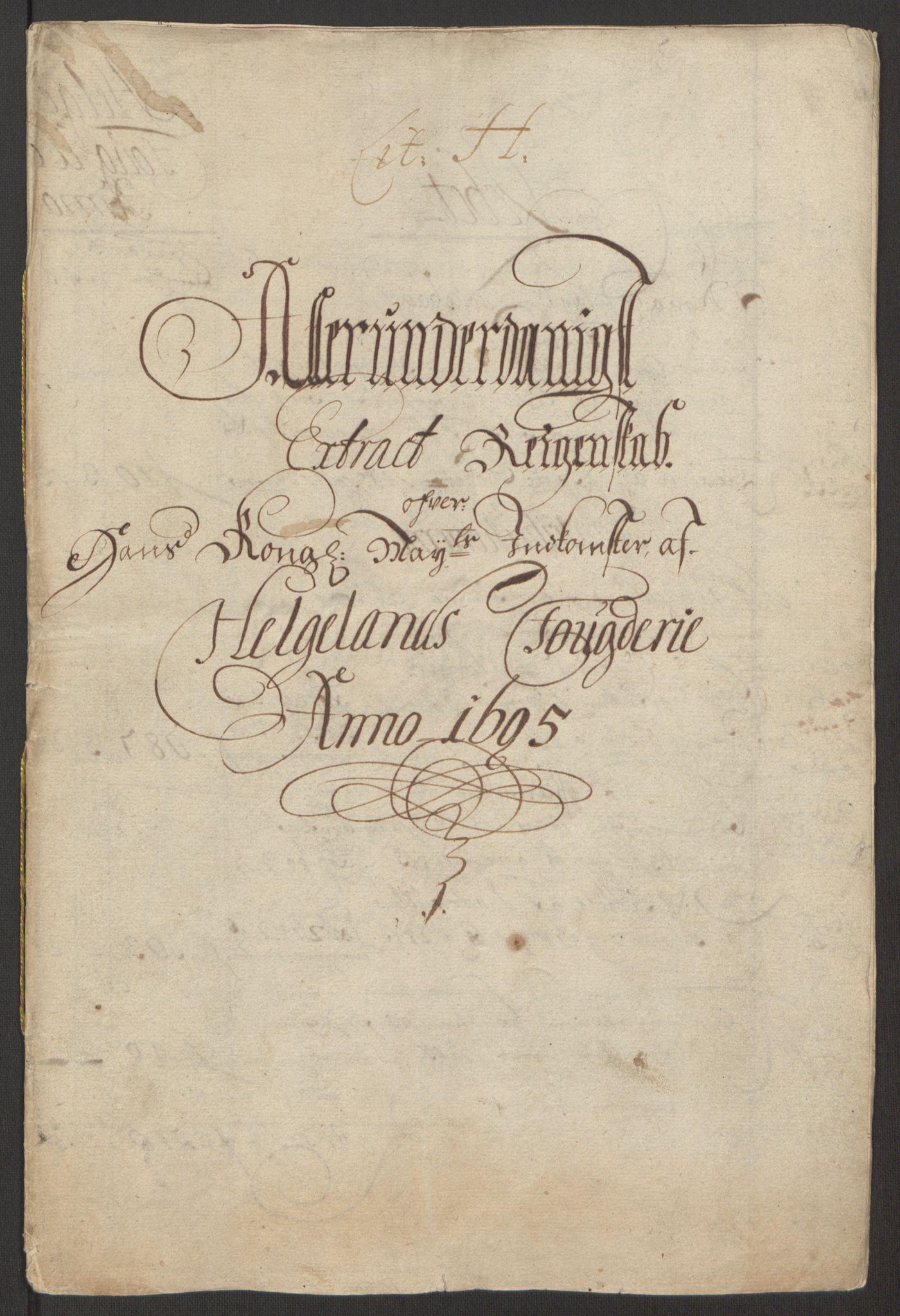 RA, Rentekammeret inntil 1814, Reviderte regnskaper, Fogderegnskap, R65/L4505: Fogderegnskap Helgeland, 1693-1696, s. 271