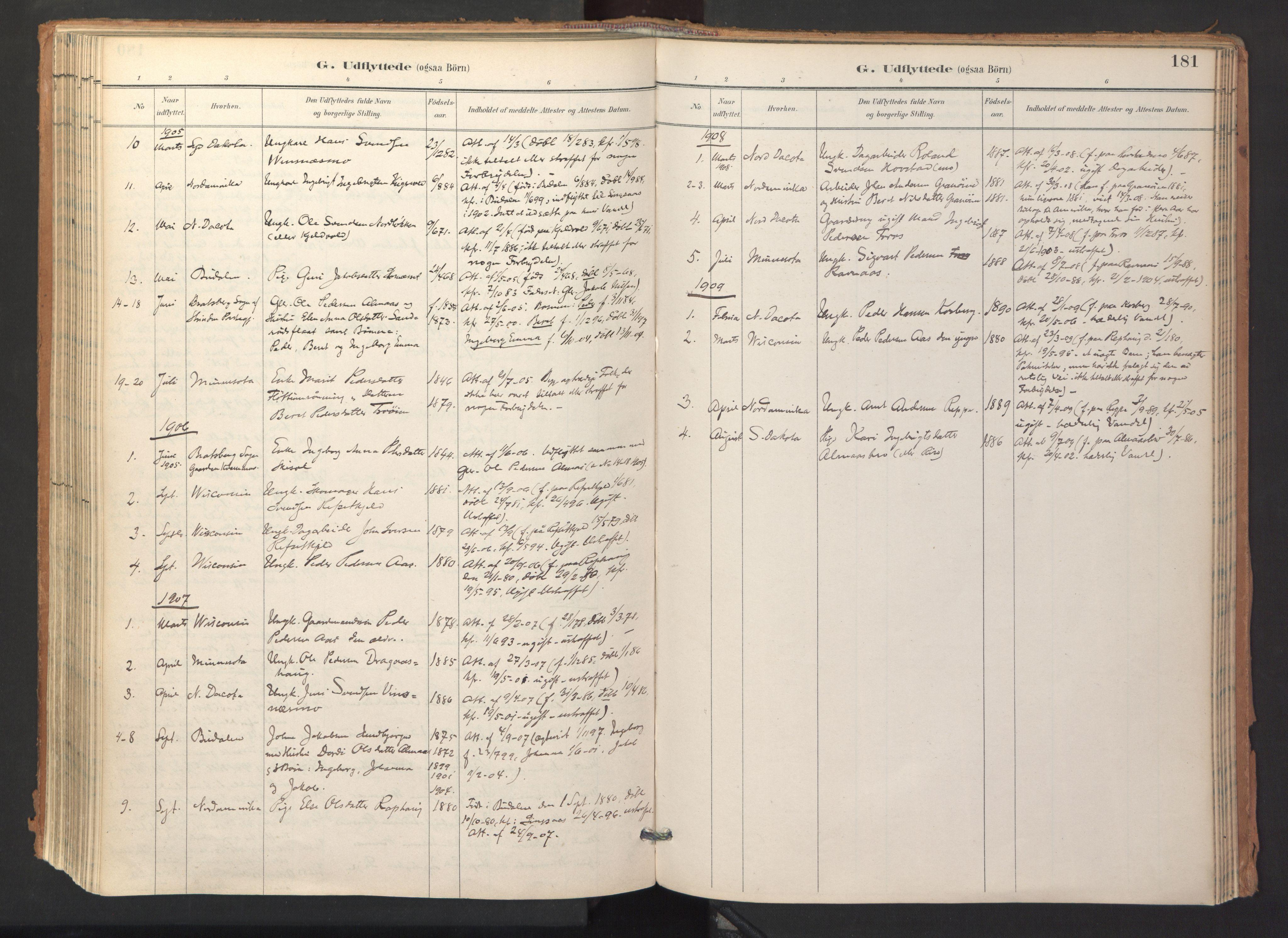 SAT, Ministerialprotokoller, klokkerbøker og fødselsregistre - Sør-Trøndelag, 688/L1025: Ministerialbok nr. 688A02, 1891-1909, s. 181