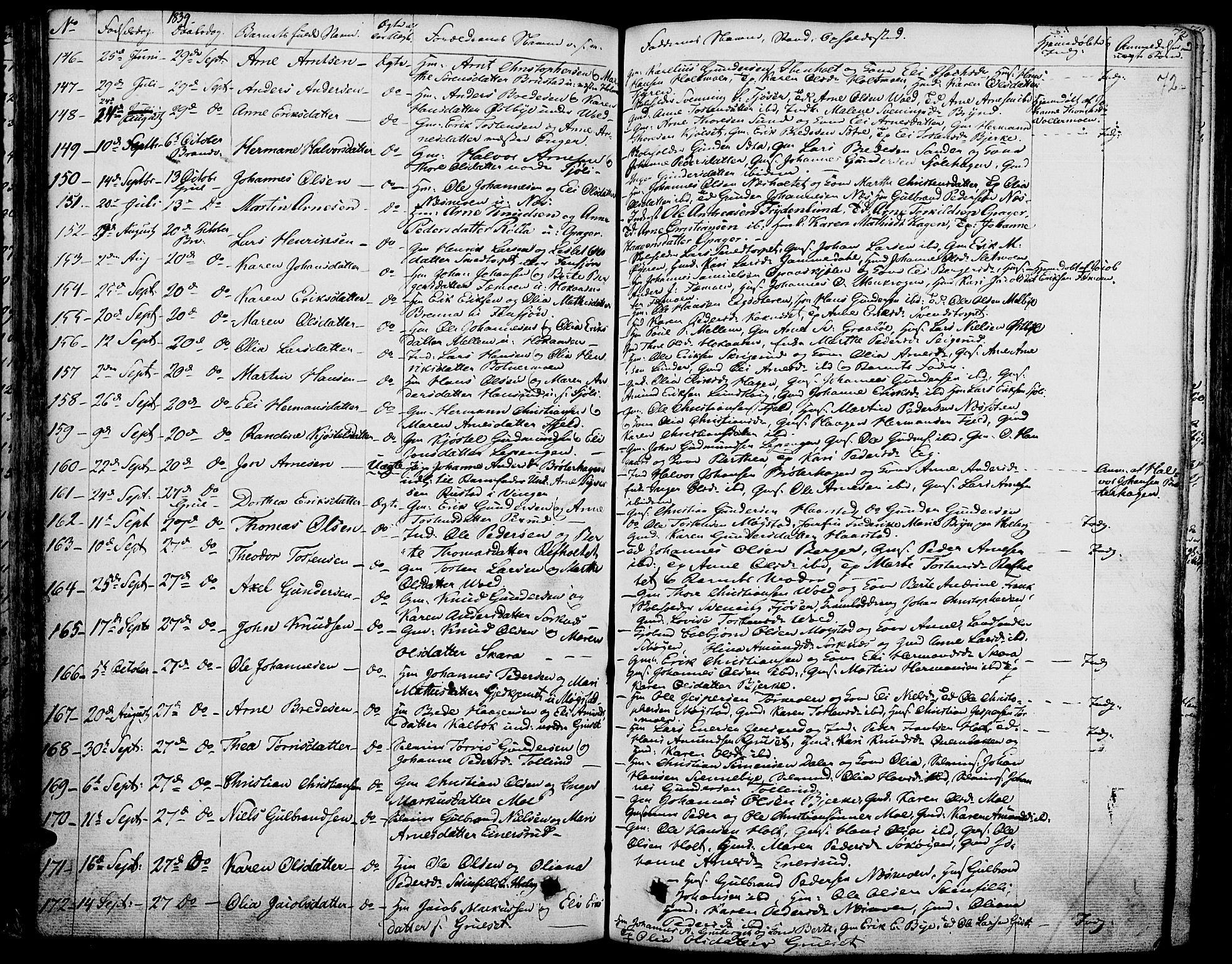 SAH, Grue prestekontor, Ministerialbok nr. 7, 1830-1847, s. 72