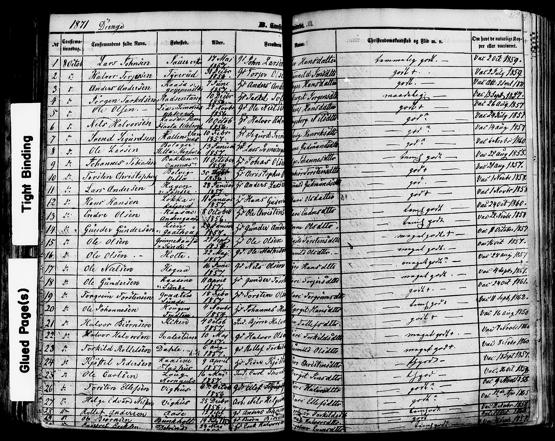 SAKO, Sauherad kirkebøker, F/Fa/L0007: Ministerialbok nr. I 7, 1851-1873, s. 135