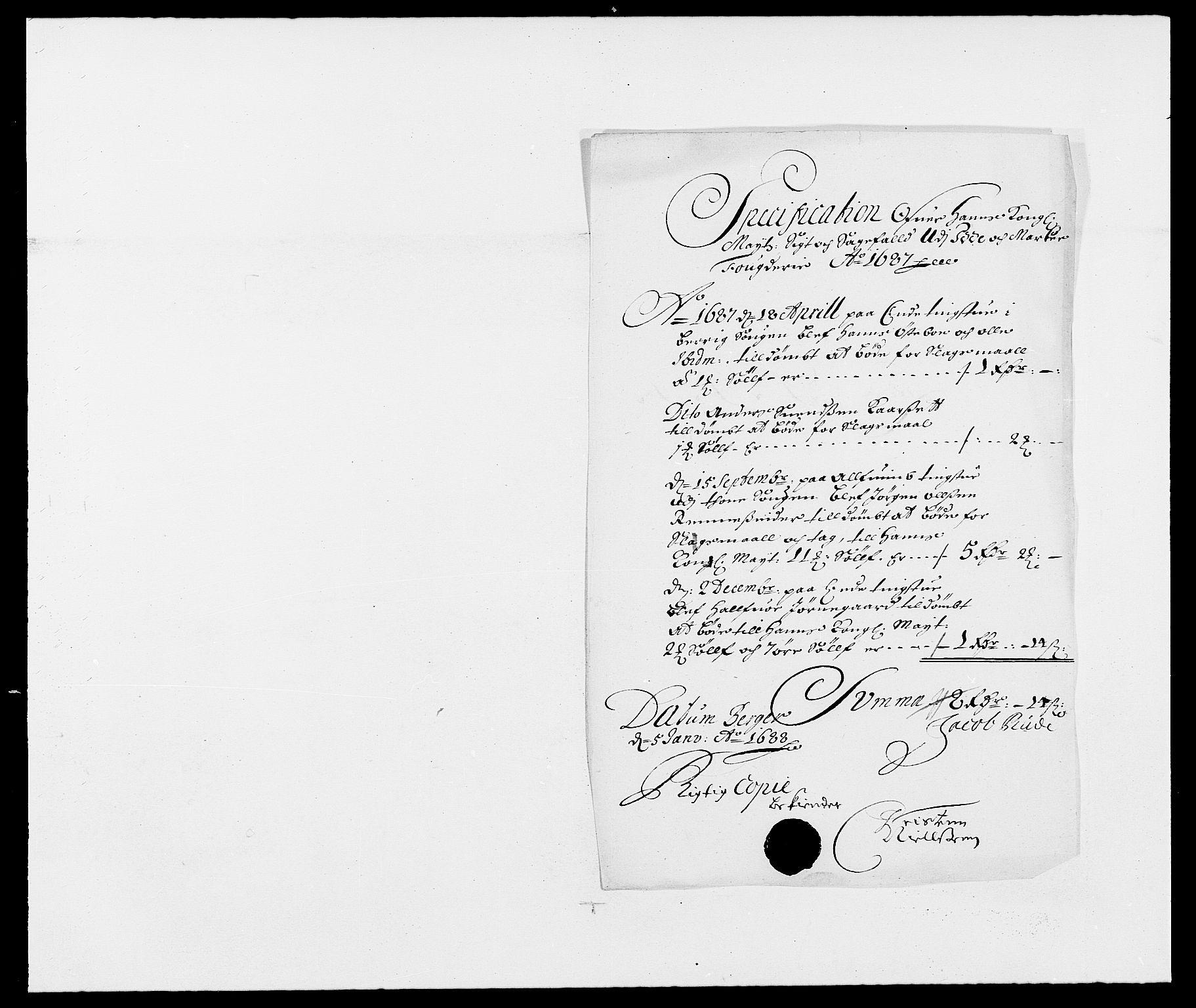 RA, Rentekammeret inntil 1814, Reviderte regnskaper, Fogderegnskap, R01/L0007: Fogderegnskap Idd og Marker, 1687-1688, s. 88