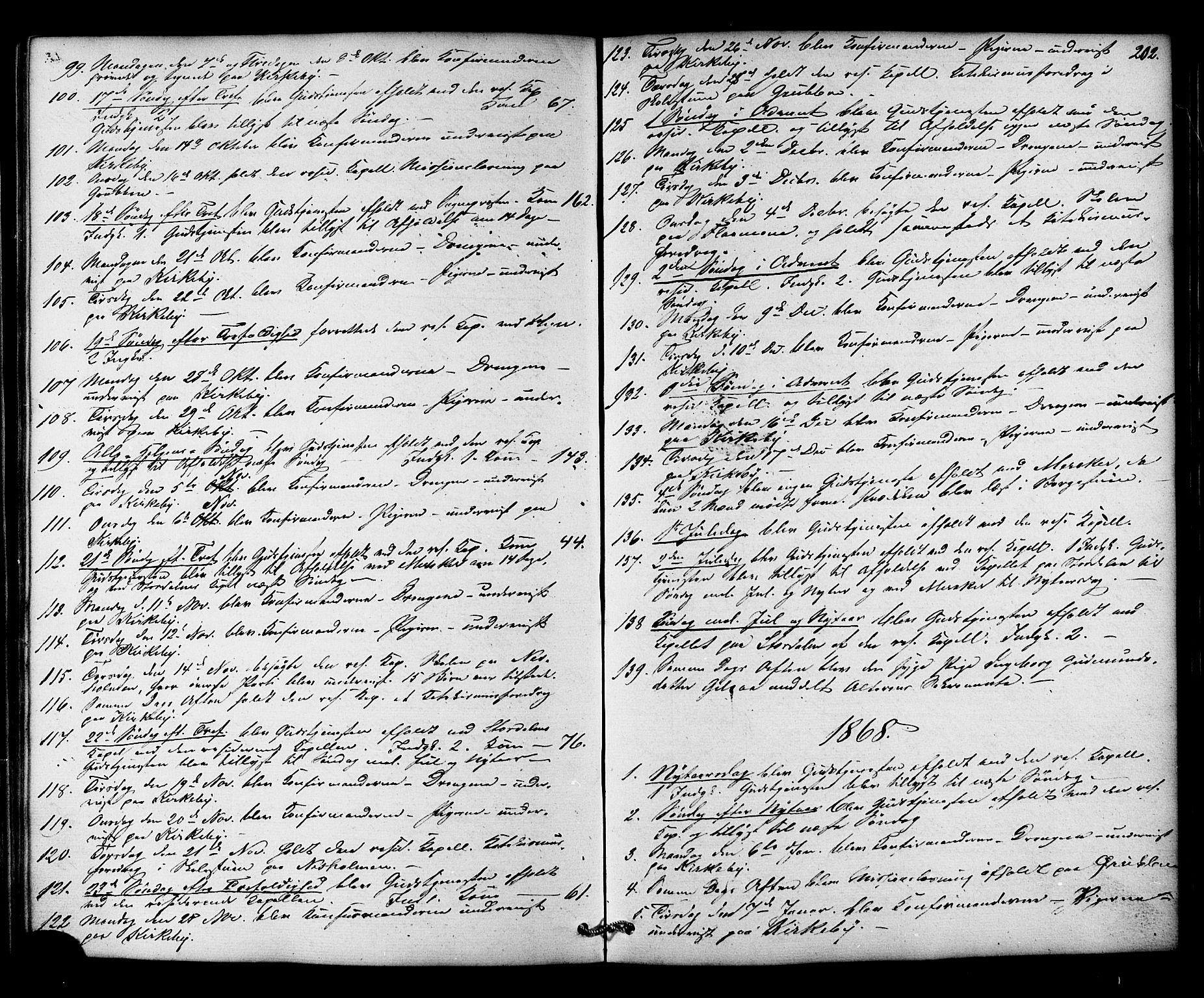 SAT, Ministerialprotokoller, klokkerbøker og fødselsregistre - Nord-Trøndelag, 706/L0041: Ministerialbok nr. 706A02, 1862-1877, s. 202