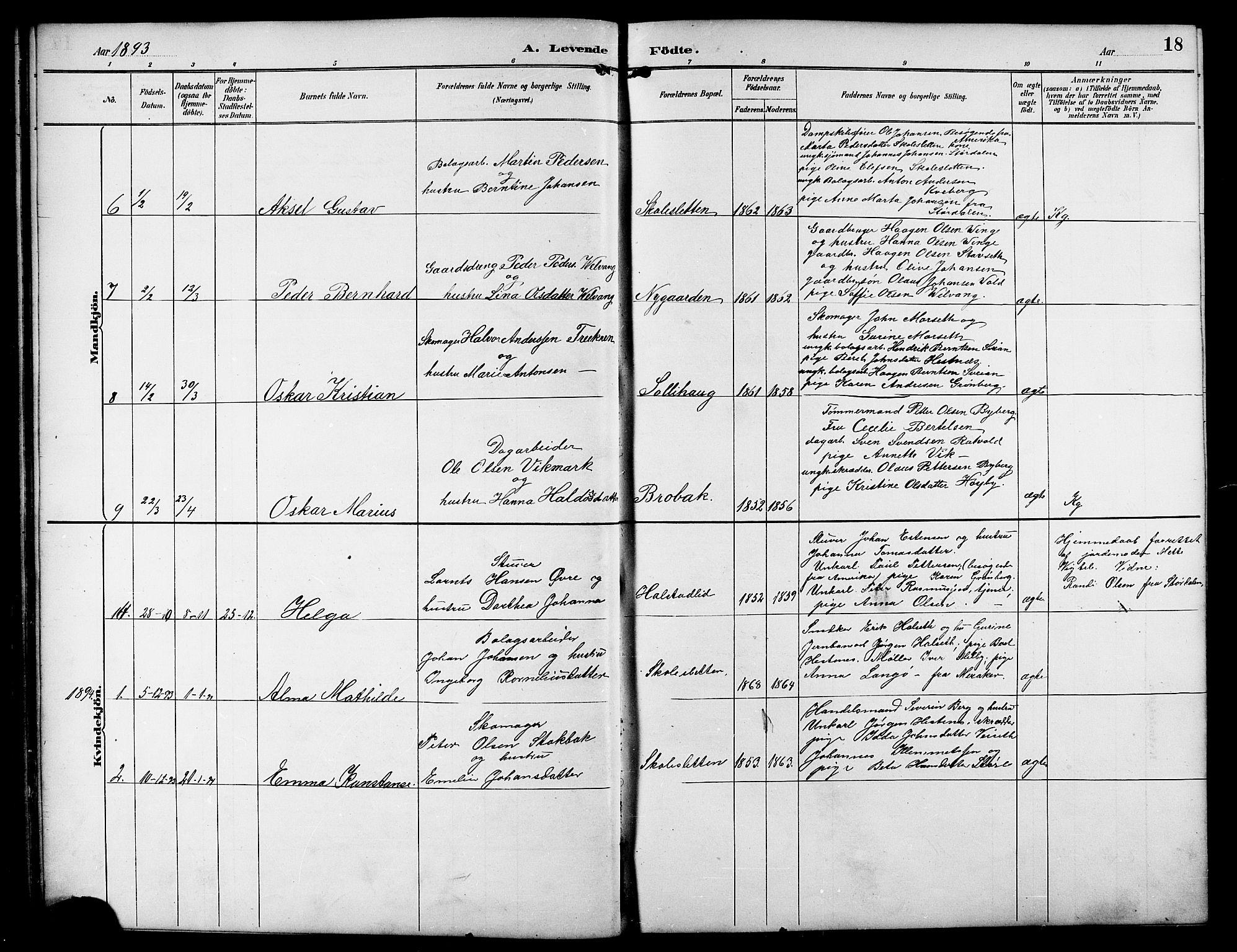 SAT, Ministerialprotokoller, klokkerbøker og fødselsregistre - Sør-Trøndelag, 617/L0431: Klokkerbok nr. 617C01, 1889-1910, s. 18