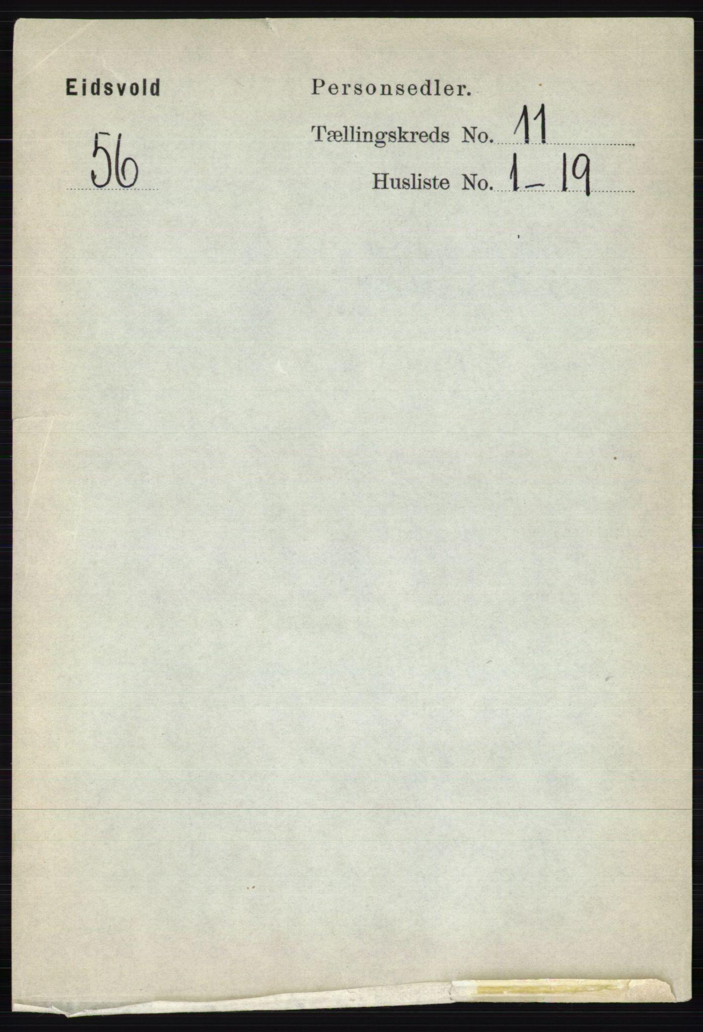 RA, Folketelling 1891 for 0237 Eidsvoll herred, 1891, s. 7683
