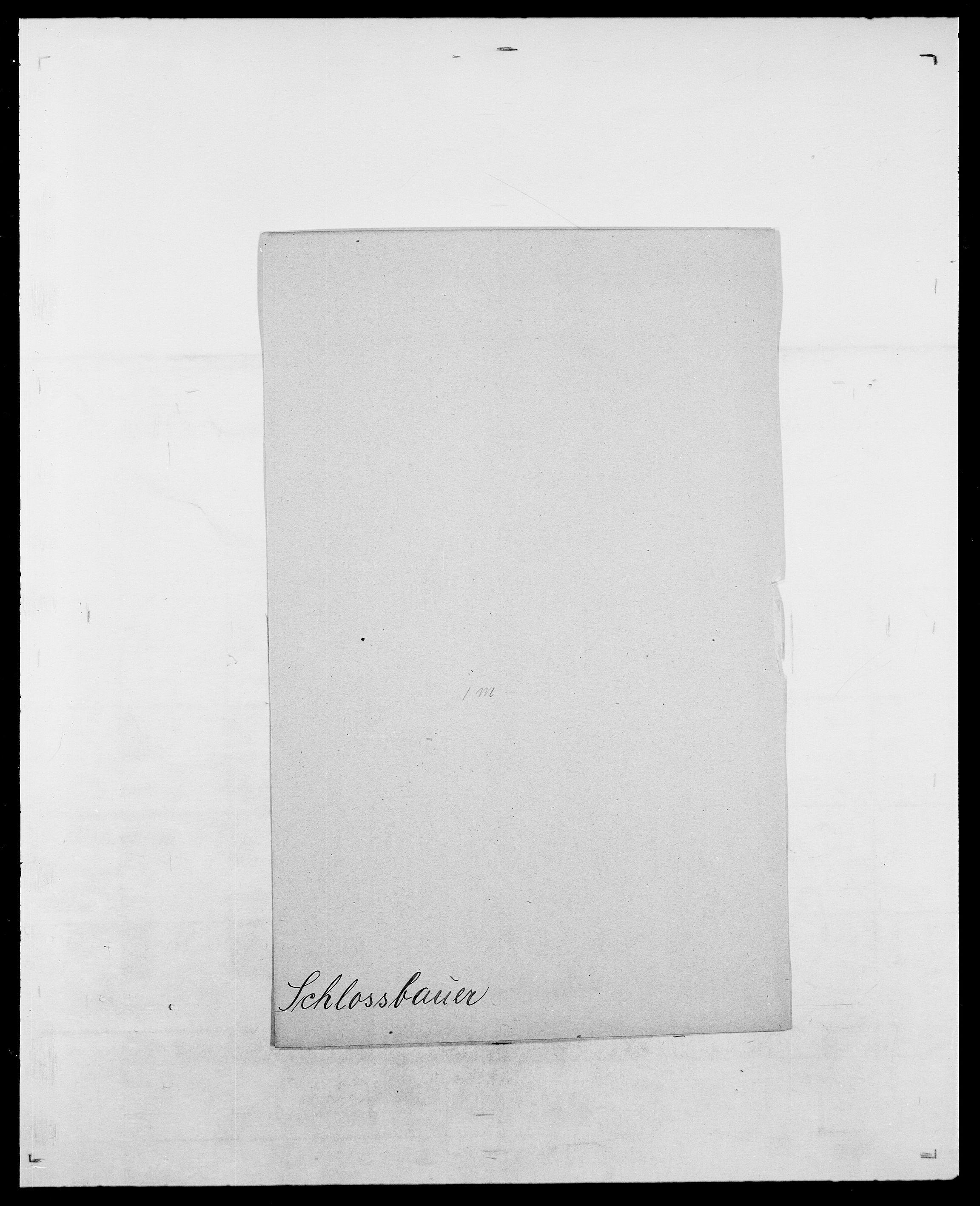 SAO, Delgobe, Charles Antoine - samling, D/Da/L0034: Saabye - Schmincke, s. 825