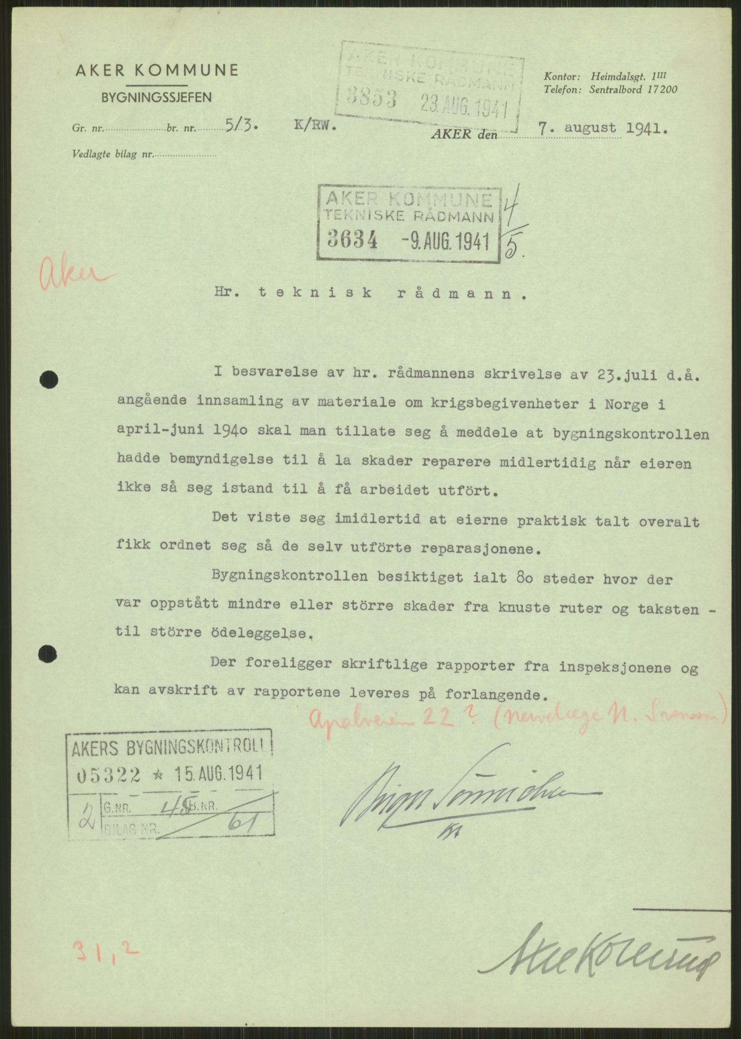 RA, Forsvaret, Forsvarets krigshistoriske avdeling, Y/Ya/L0013: II-C-11-31 - Fylkesmenn.  Rapporter om krigsbegivenhetene 1940., 1940, s. 286