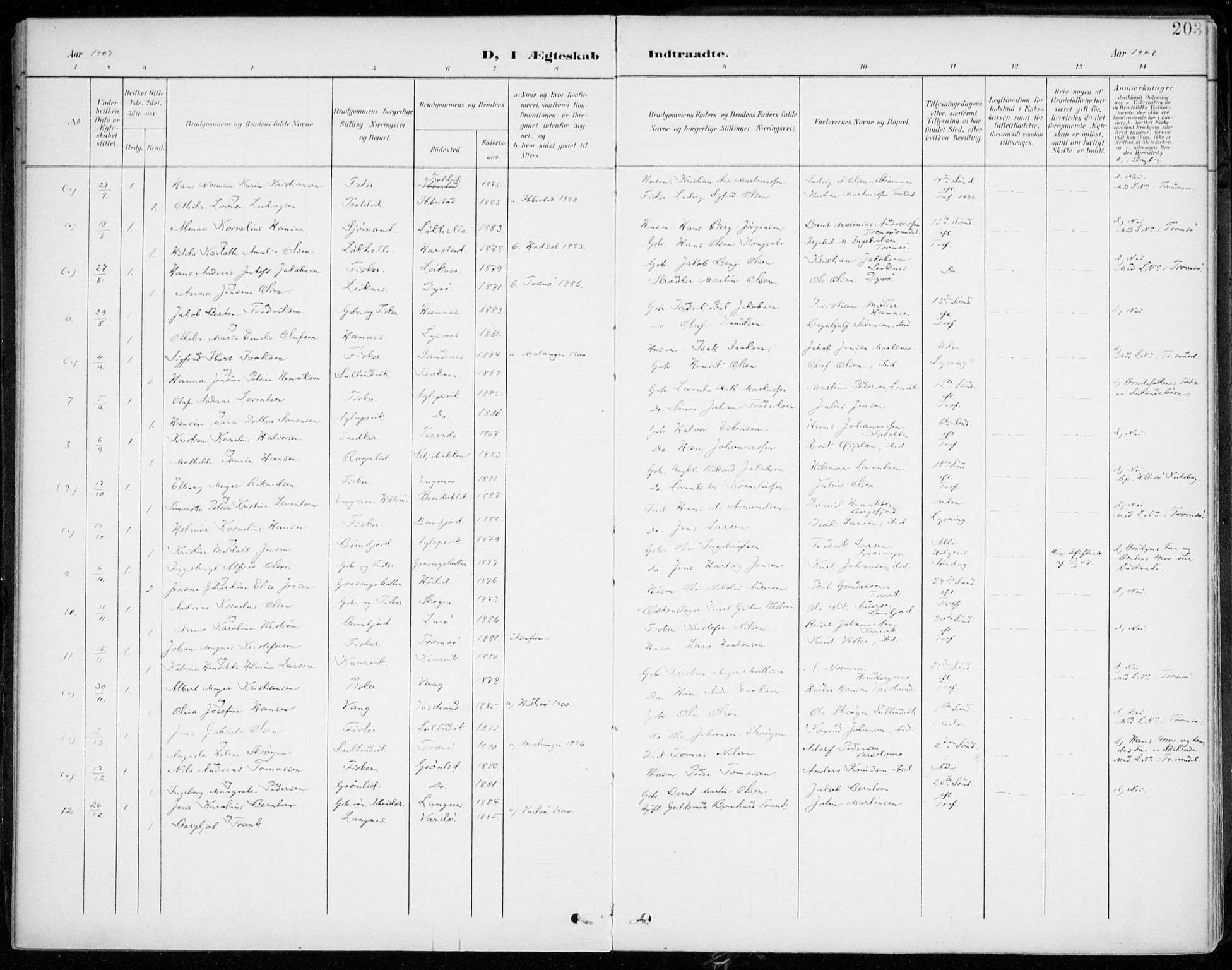 SATØ, Lenvik sokneprestembete, H/Ha: Ministerialbok nr. 14, 1899-1909, s. 203
