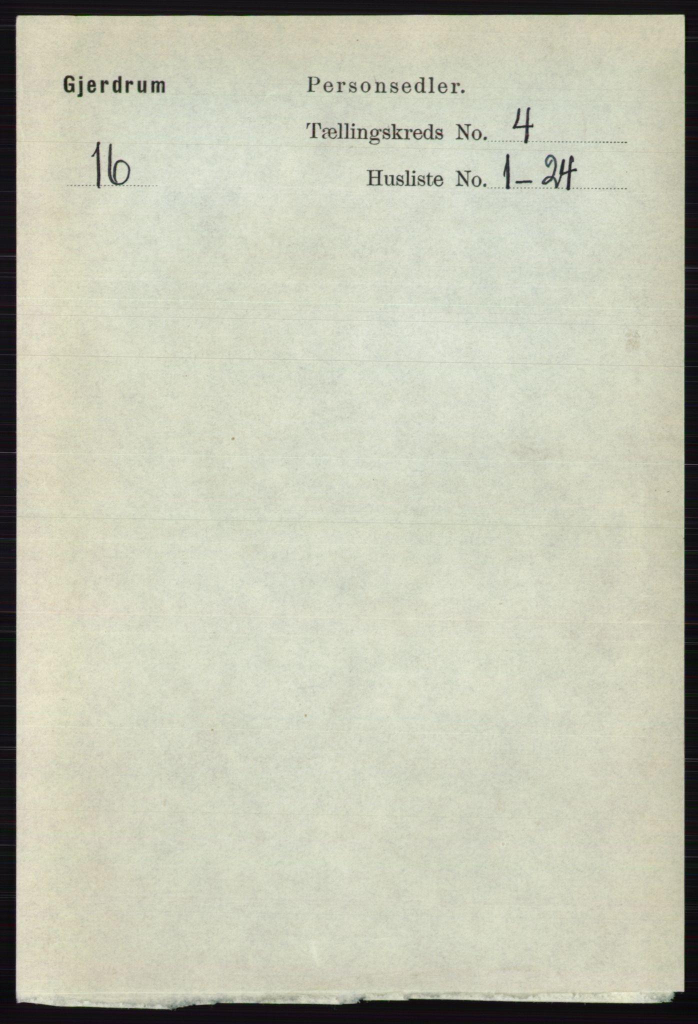 RA, Folketelling 1891 for 0234 Gjerdrum herred, 1891, s. 1813