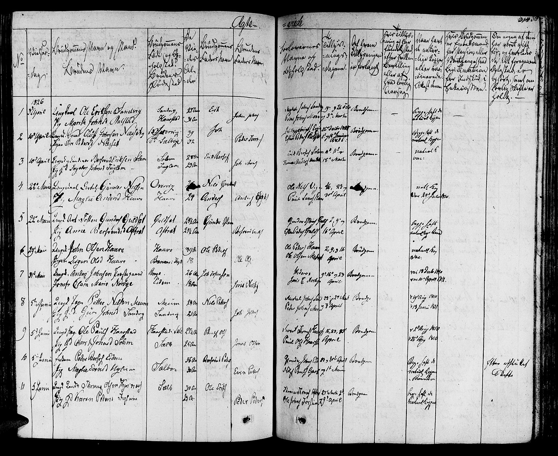 SAT, Ministerialprotokoller, klokkerbøker og fødselsregistre - Sør-Trøndelag, 695/L1143: Ministerialbok nr. 695A05 /1, 1824-1842, s. 305