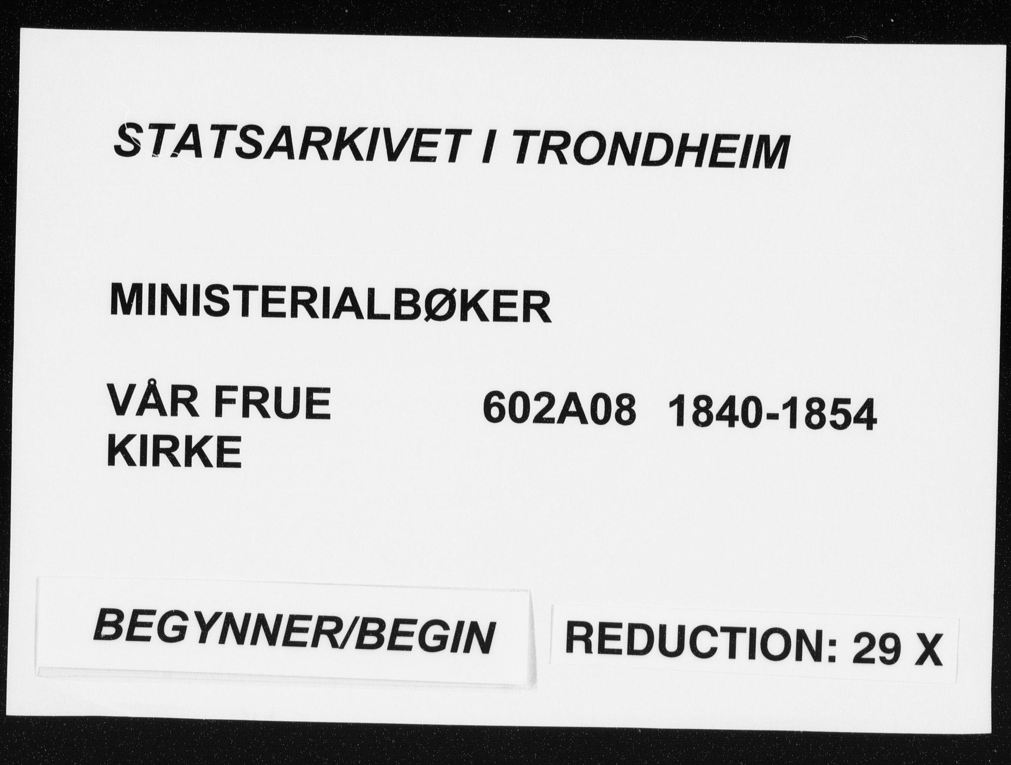 SAT, Ministerialprotokoller, klokkerbøker og fødselsregistre - Sør-Trøndelag, 602/L0110: Ministerialbok nr. 602A08, 1840-1854