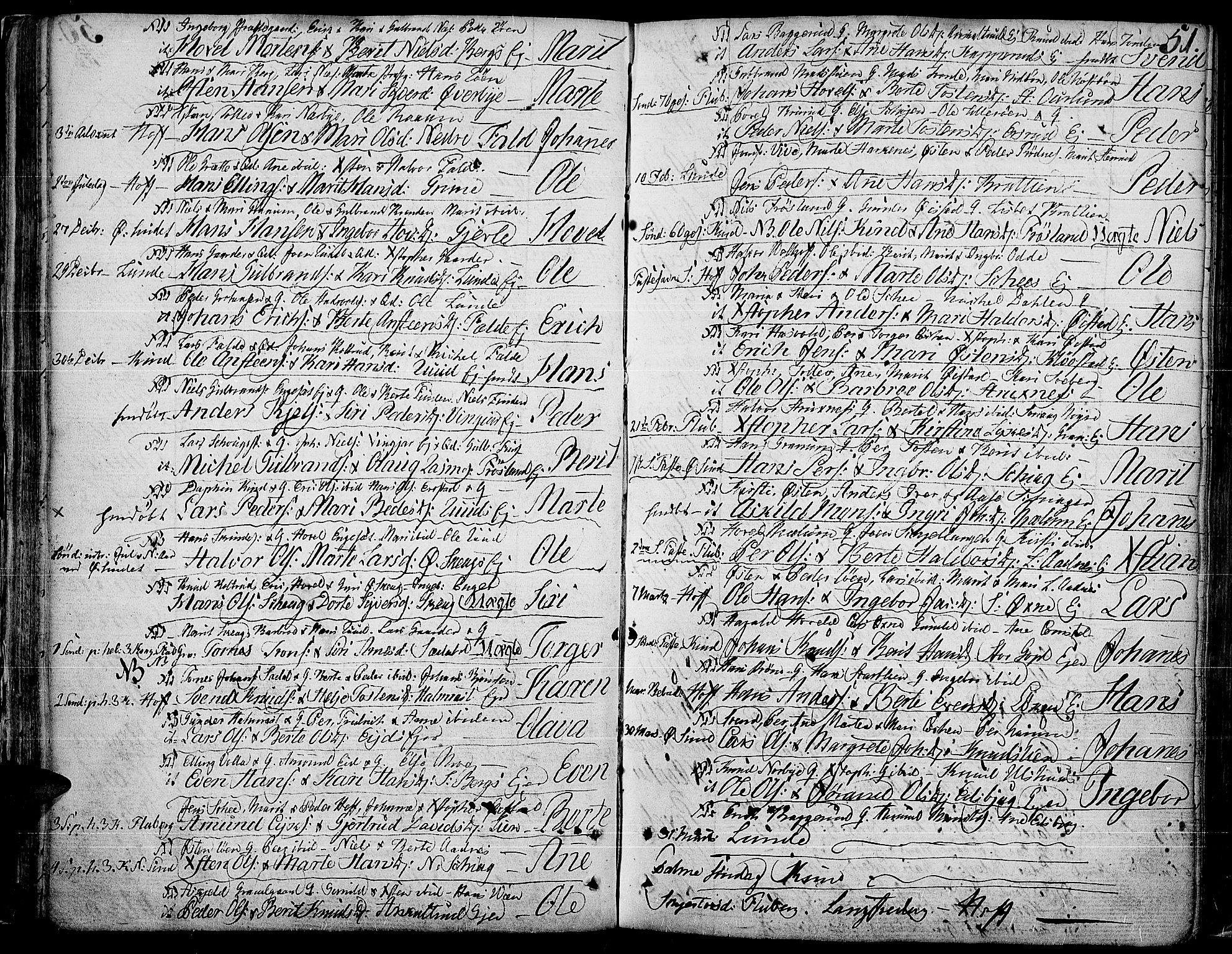 SAH, Land prestekontor, Ministerialbok nr. 6, 1784-1813, s. 51
