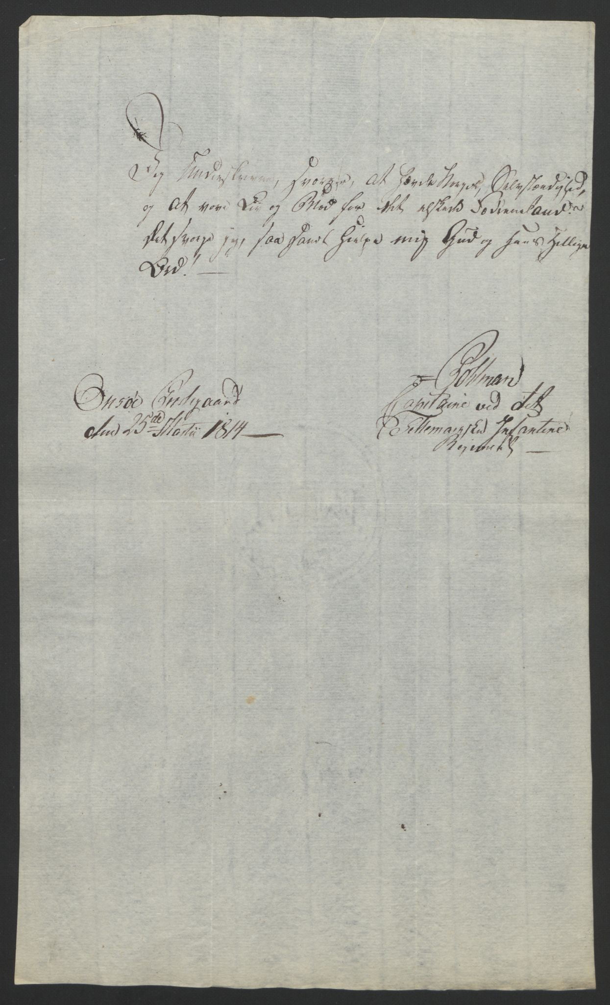 RA, Statsrådssekretariatet, D/Db/L0007: Fullmakter for Eidsvollsrepresentantene i 1814. , 1814, s. 98