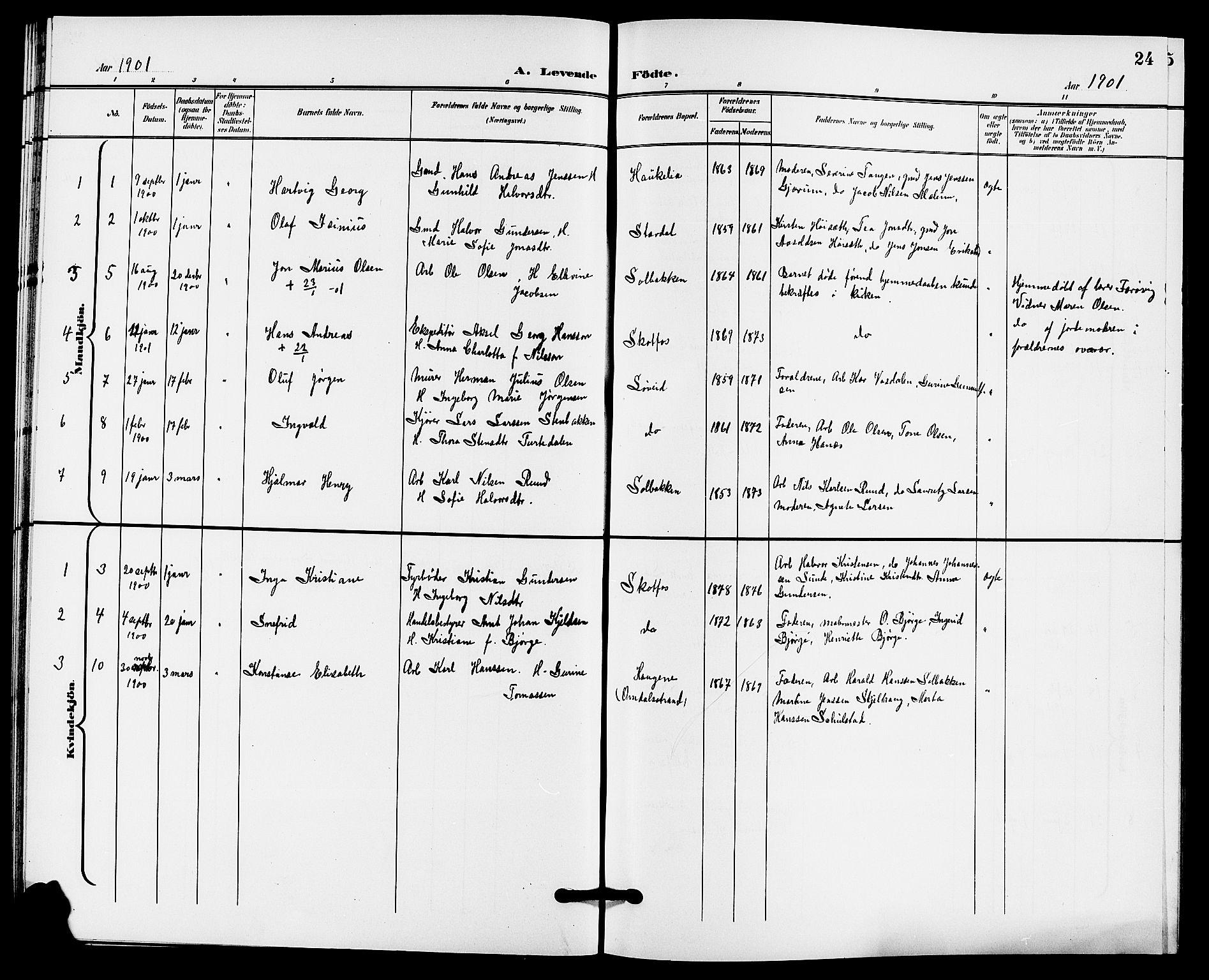 SAKO, Solum kirkebøker, G/Gb/L0004: Klokkerbok nr. II 4, 1898-1905, s. 24