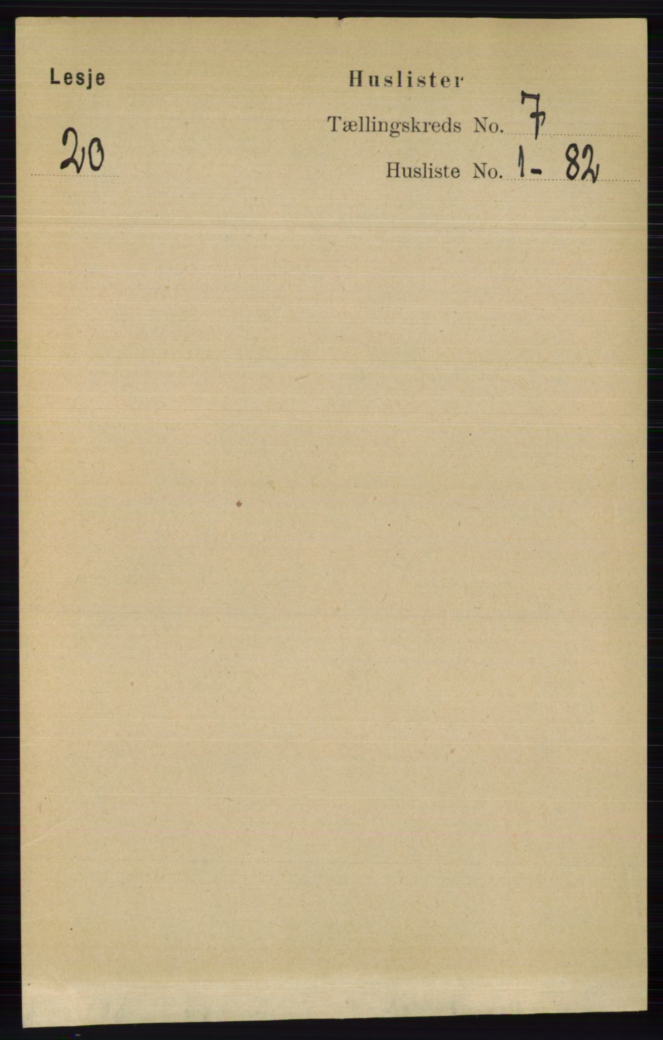 RA, Folketelling 1891 for 0512 Lesja herred, 1891, s. 2407