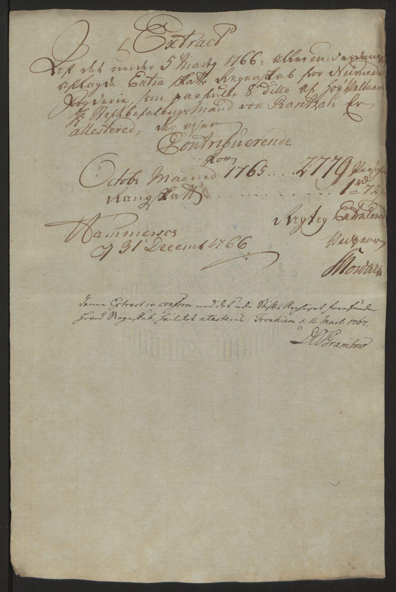 RA, Rentekammeret inntil 1814, Reviderte regnskaper, Fogderegnskap, R64/L4502: Ekstraskatten Namdal, 1762-1772, s. 219