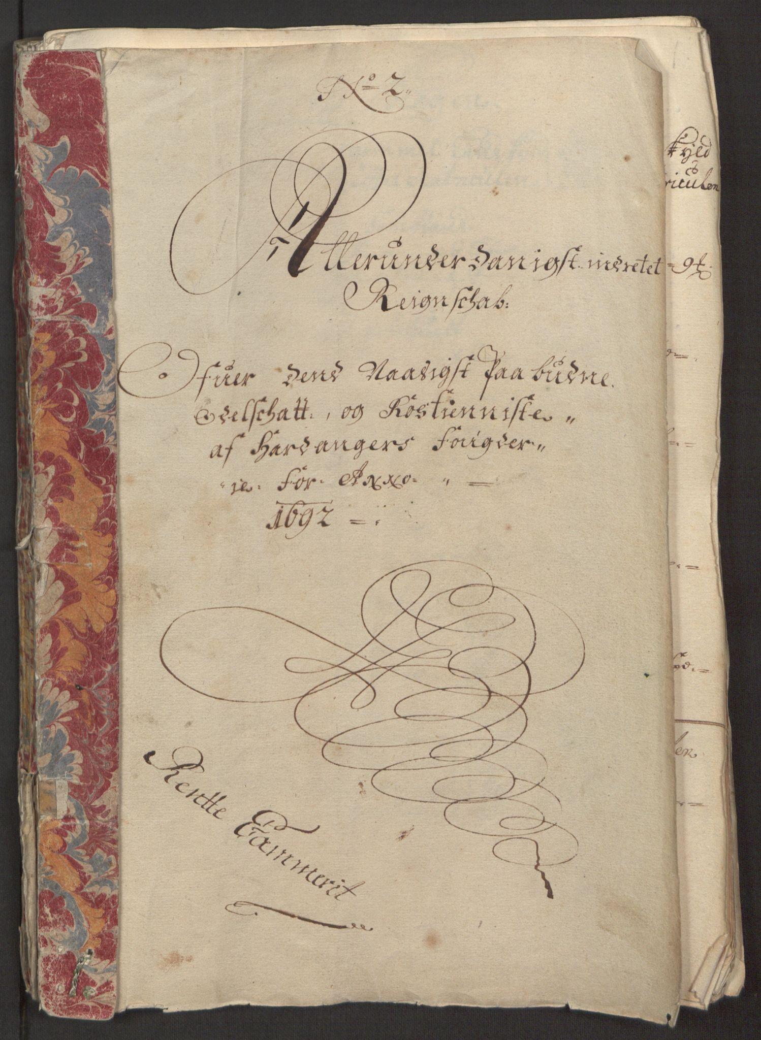 RA, Rentekammeret inntil 1814, Reviderte regnskaper, Fogderegnskap, R48/L2973: Fogderegnskap Sunnhordland og Hardanger, 1691-1692, s. 502