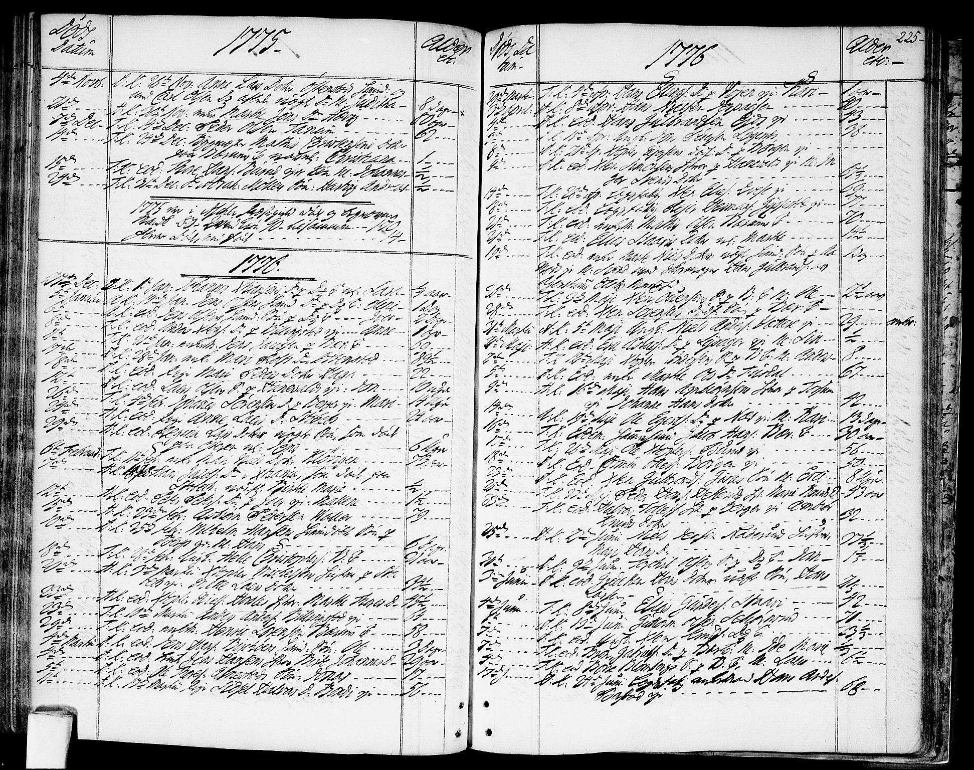 SAO, Asker prestekontor Kirkebøker, F/Fa/L0003: Ministerialbok nr. I 3, 1767-1807, s. 225