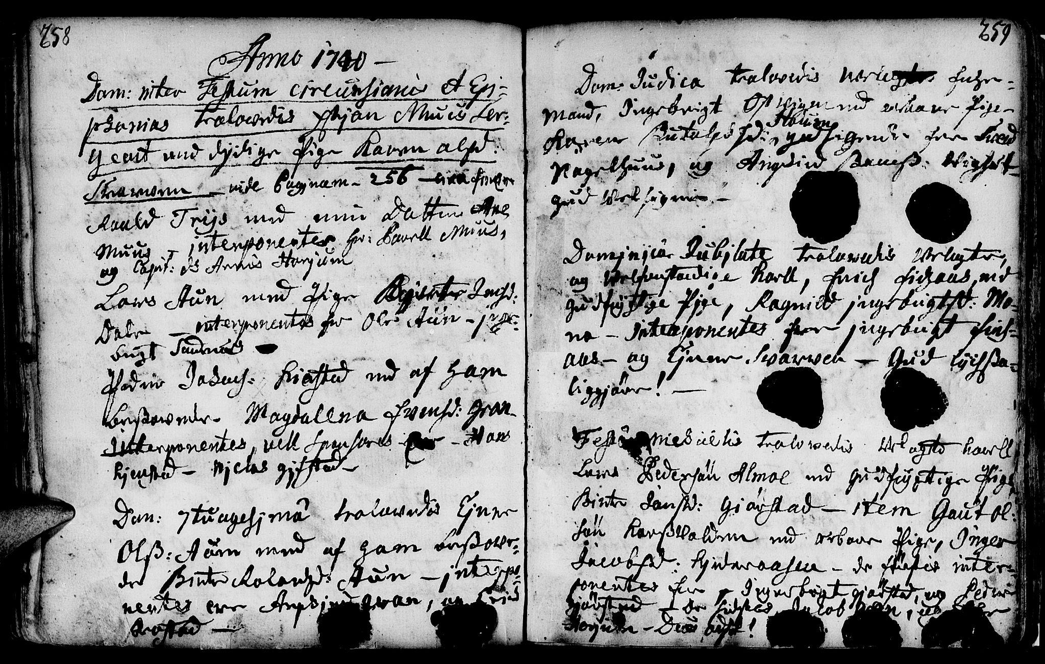 SAT, Ministerialprotokoller, klokkerbøker og fødselsregistre - Nord-Trøndelag, 749/L0467: Ministerialbok nr. 749A01, 1733-1787, s. 258-259
