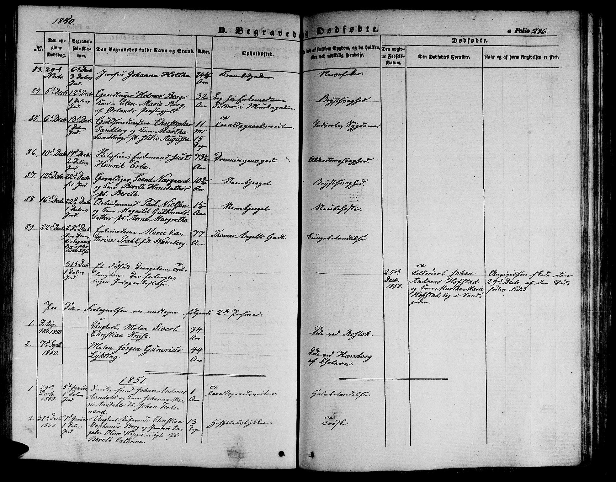 SAT, Ministerialprotokoller, klokkerbøker og fødselsregistre - Sør-Trøndelag, 602/L0137: Klokkerbok nr. 602C05, 1846-1856, s. 286
