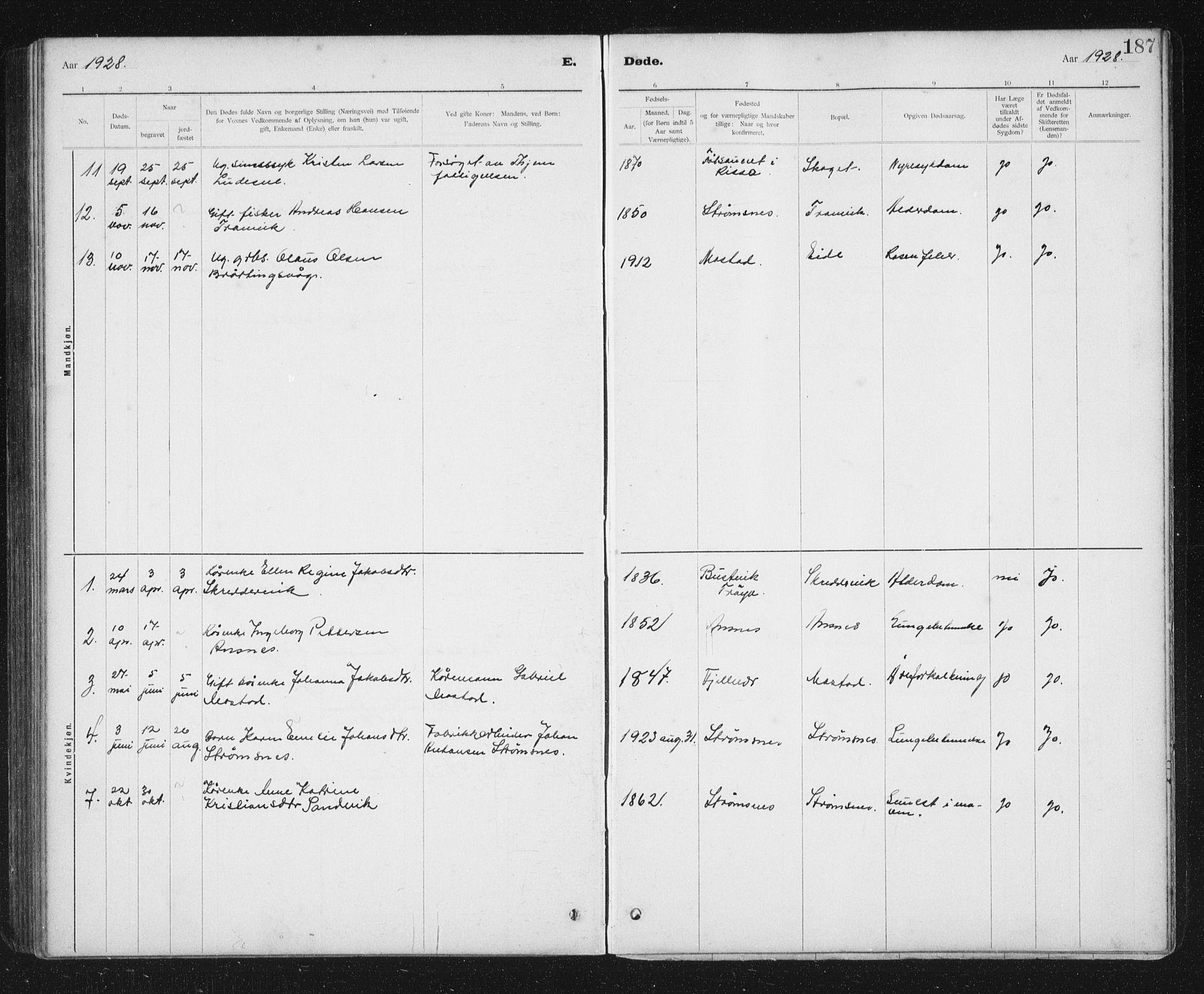 SAT, Ministerialprotokoller, klokkerbøker og fødselsregistre - Sør-Trøndelag, 637/L0563: Klokkerbok nr. 637C04, 1899-1940, s. 187