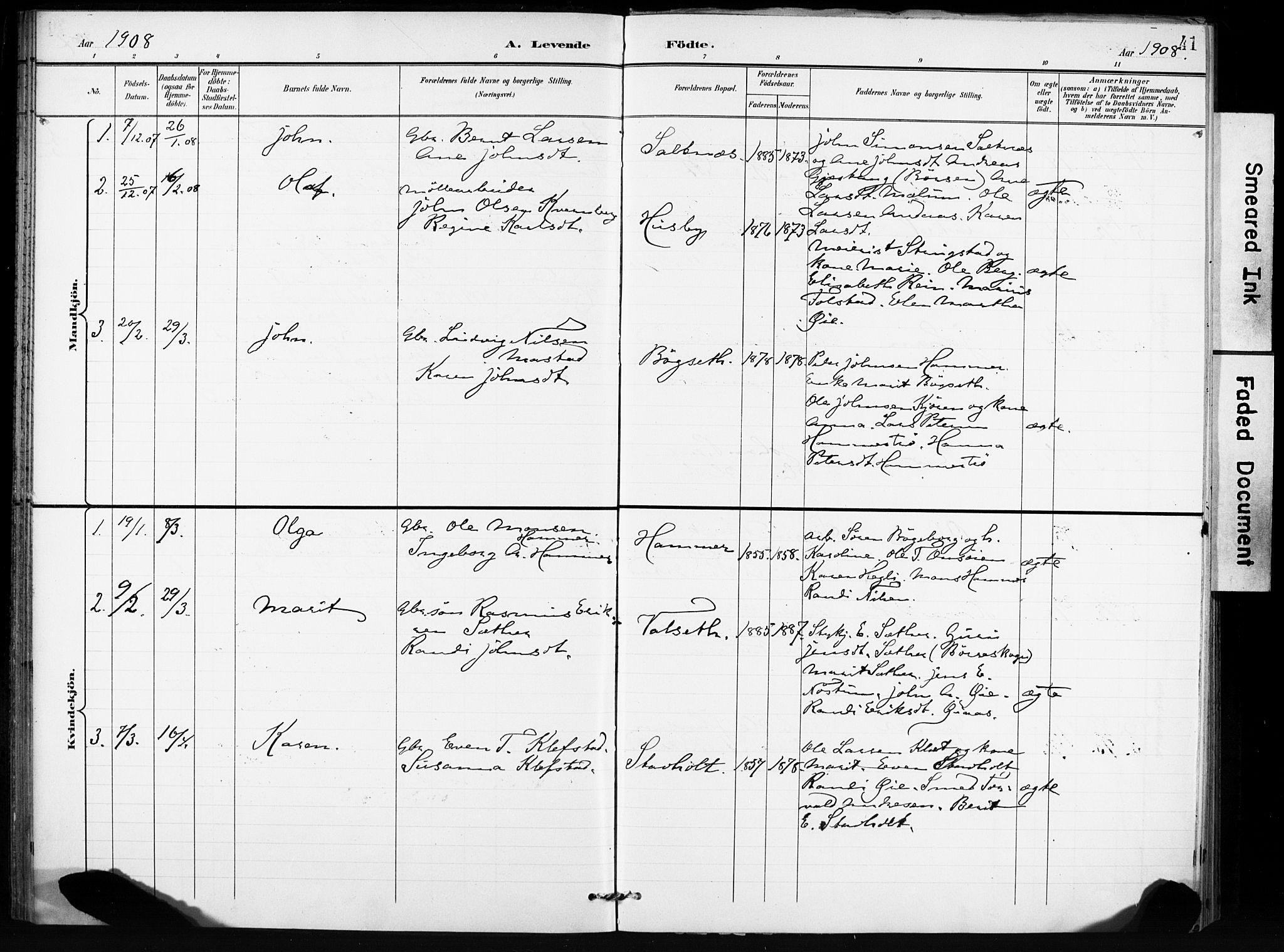 SAT, Ministerialprotokoller, klokkerbøker og fødselsregistre - Sør-Trøndelag, 666/L0787: Ministerialbok nr. 666A05, 1895-1908, s. 41