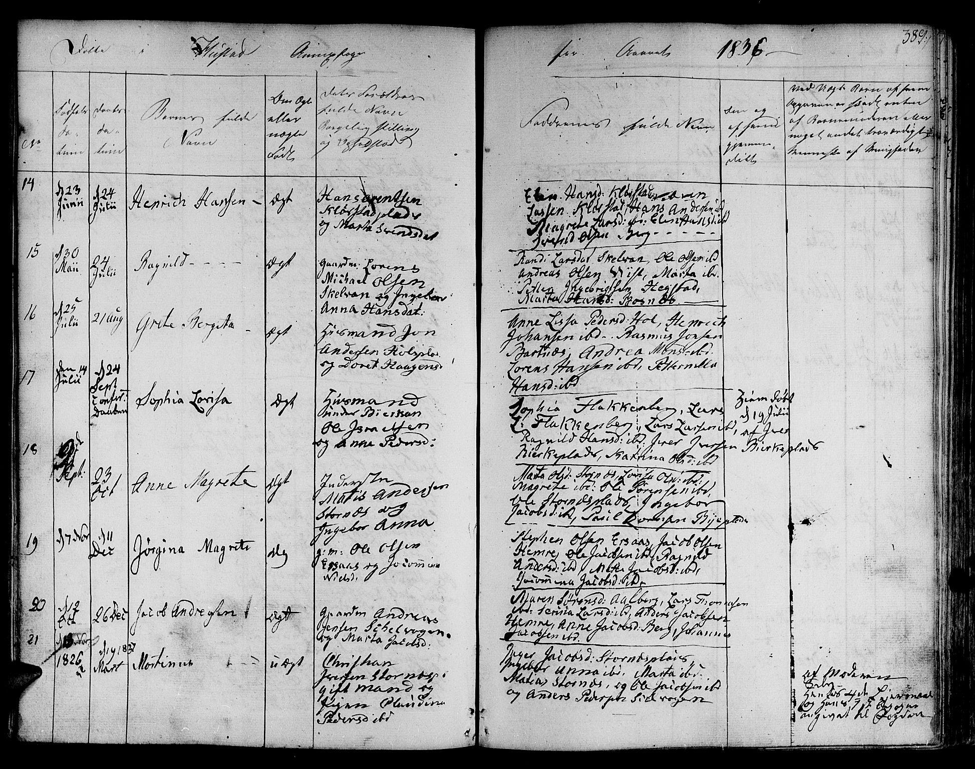 SAT, Ministerialprotokoller, klokkerbøker og fødselsregistre - Nord-Trøndelag, 730/L0277: Ministerialbok nr. 730A06 /3, 1830-1839, s. 389