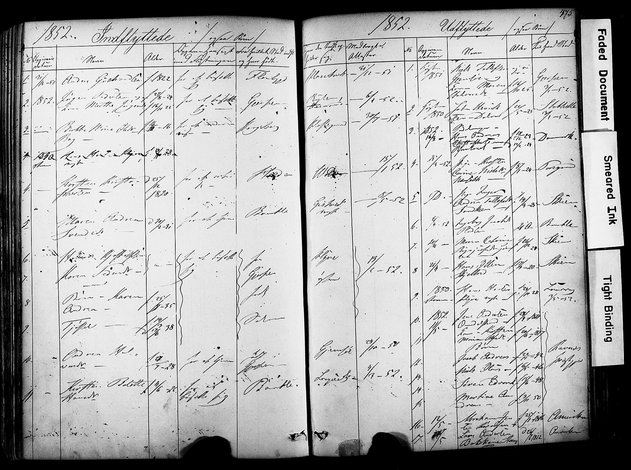 SAKO, Solum kirkebøker, F/Fa/L0006: Ministerialbok nr. I 6, 1844-1855, s. 475