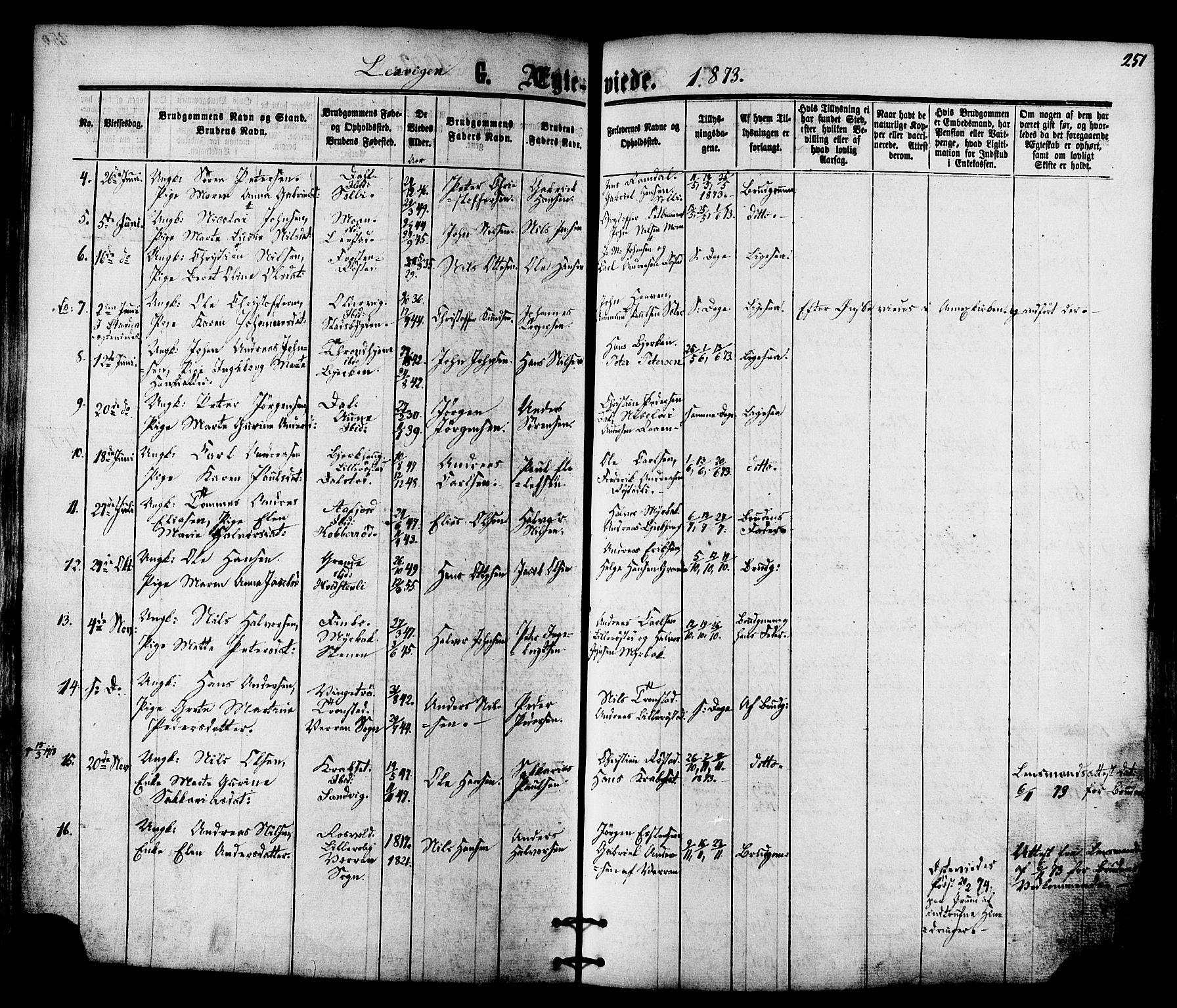 SAT, Ministerialprotokoller, klokkerbøker og fødselsregistre - Nord-Trøndelag, 701/L0009: Ministerialbok nr. 701A09 /1, 1864-1882, s. 251