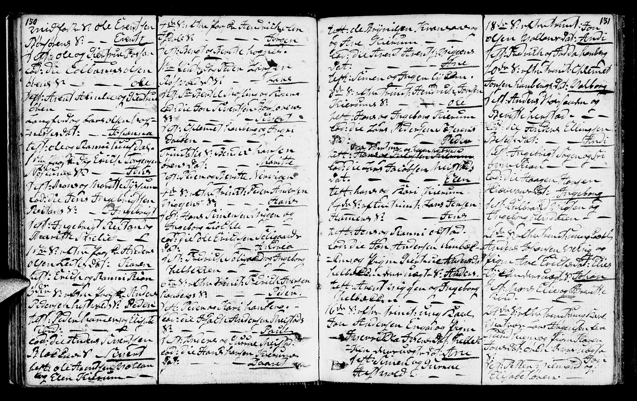 SAT, Ministerialprotokoller, klokkerbøker og fødselsregistre - Sør-Trøndelag, 665/L0769: Ministerialbok nr. 665A04, 1803-1816, s. 130-131