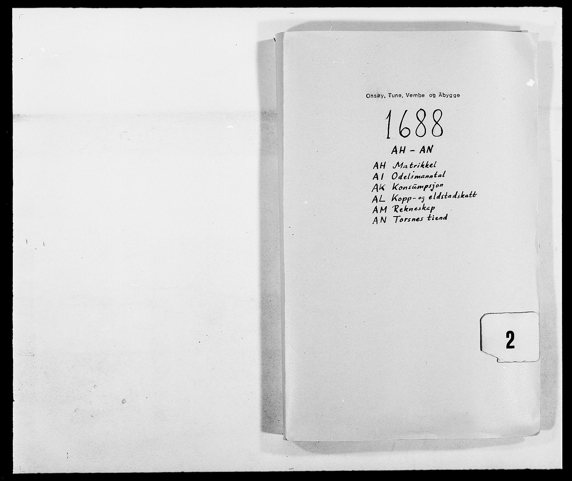 RA, Rentekammeret inntil 1814, Reviderte regnskaper, Fogderegnskap, R03/L0117: Fogderegnskap Onsøy, Tune, Veme og Åbygge fogderi, 1684-1689, s. 138