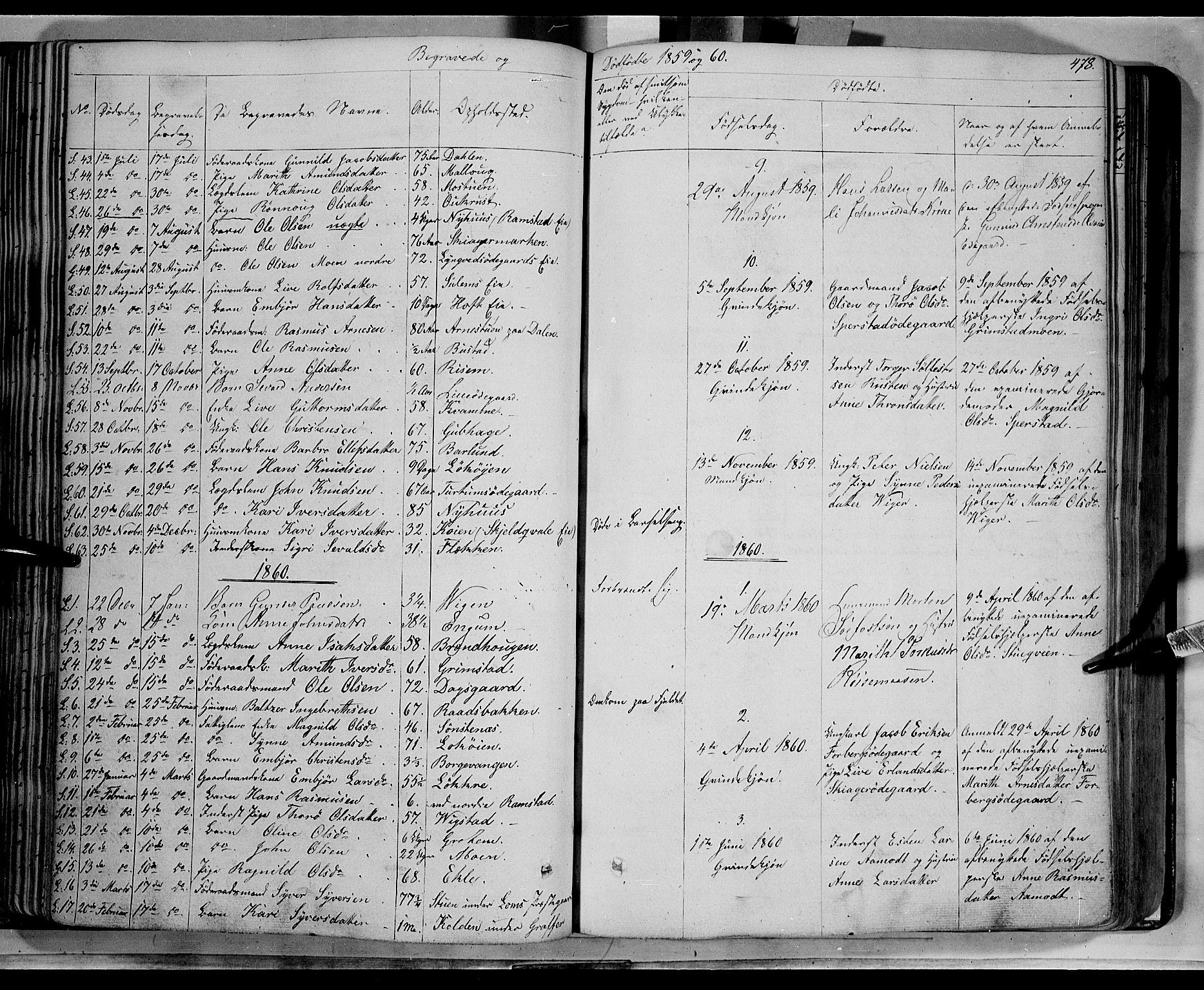 SAH, Lom prestekontor, K/L0006: Ministerialbok nr. 6B, 1837-1863, s. 478