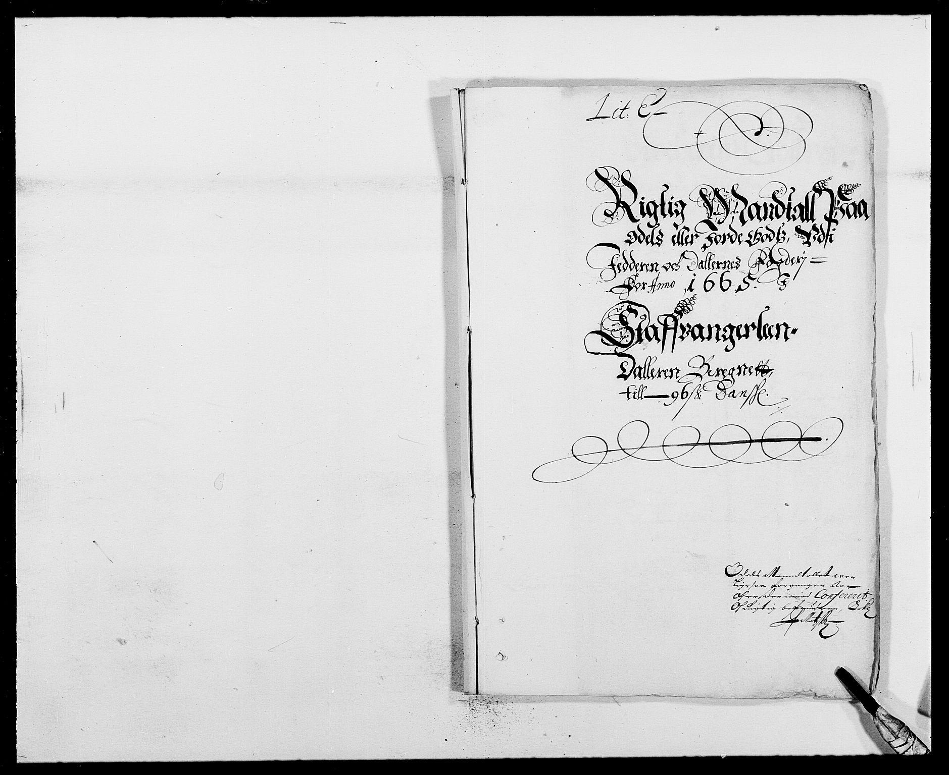 RA, Rentekammeret inntil 1814, Reviderte regnskaper, Fogderegnskap, R46/L2709: Fogderegnskap Jæren og Dalane, 1665-1667, s. 158