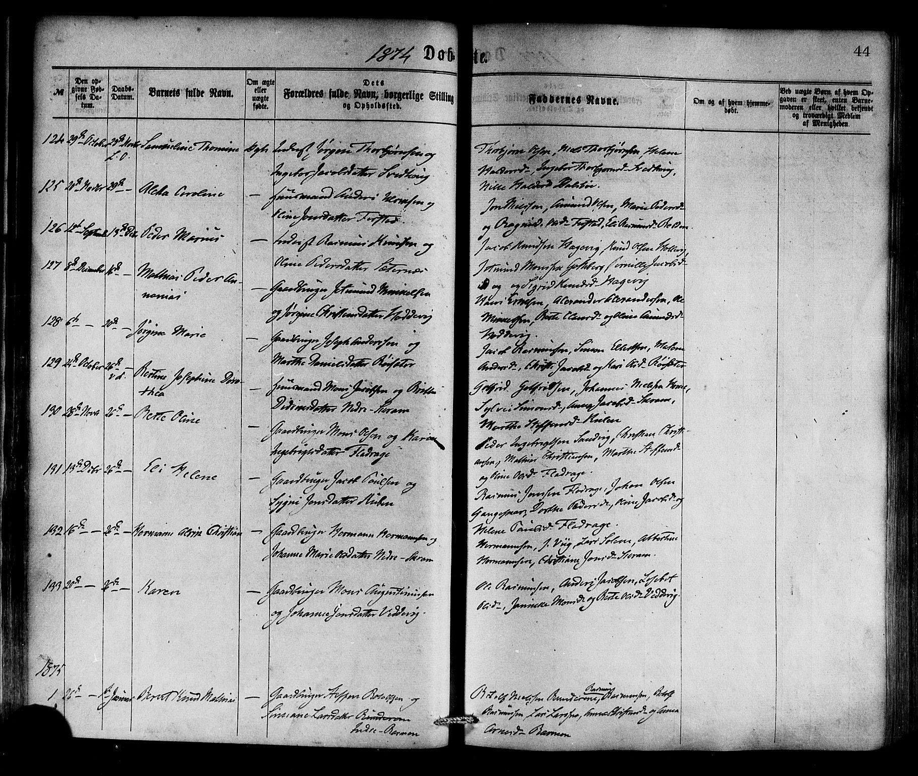 SAB, Selje sokneprestembete*, Ministerialbok nr. A 12, 1870-1880, s. 44