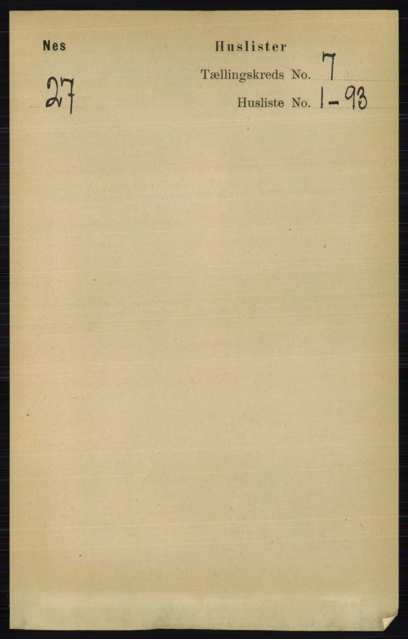 RA, Folketelling 1891 for 0411 Nes herred, 1891, s. 3828