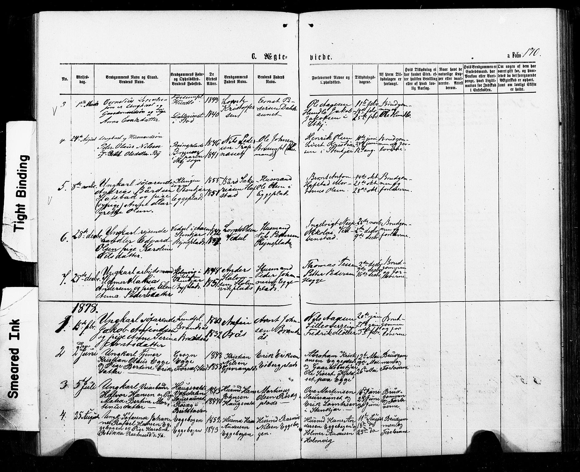 SAT, Ministerialprotokoller, klokkerbøker og fødselsregistre - Nord-Trøndelag, 740/L0380: Klokkerbok nr. 740C01, 1868-1902, s. 170