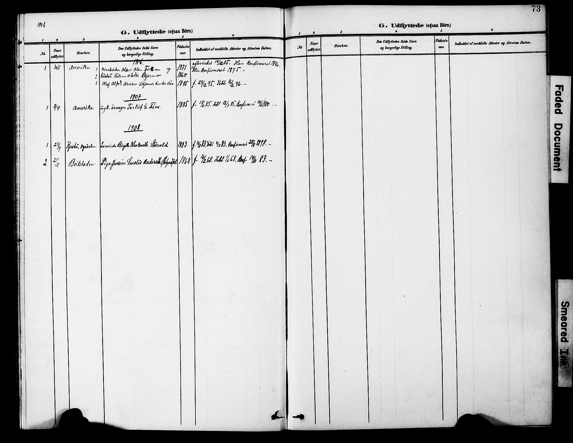 SAT, Ministerialprotokoller, klokkerbøker og fødselsregistre - Nord-Trøndelag, 746/L0452: Ministerialbok nr. 746A09, 1900-1908, s. 73