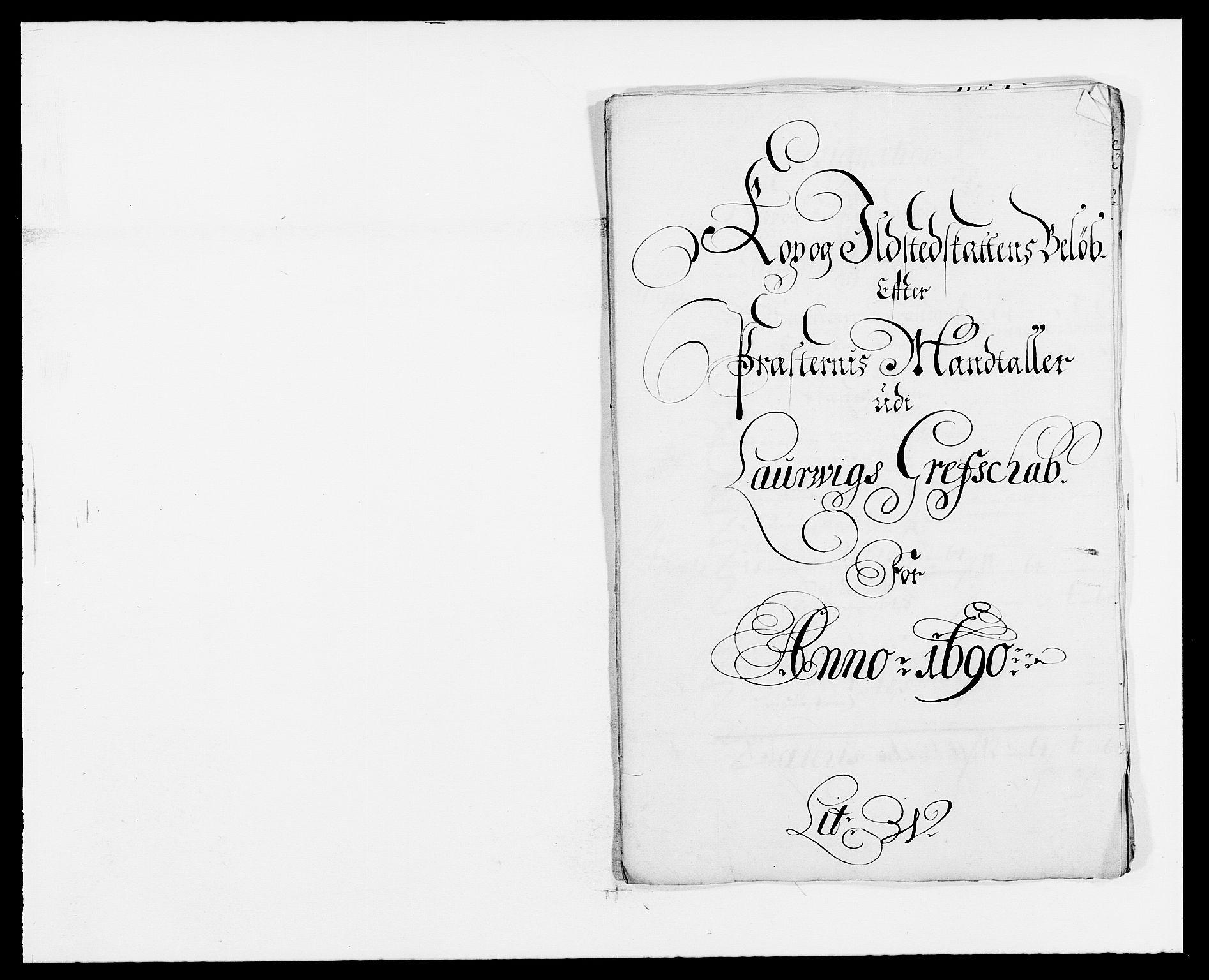 RA, Rentekammeret inntil 1814, Reviderte regnskaper, Fogderegnskap, R33/L1972: Fogderegnskap Larvik grevskap, 1690-1691, s. 200