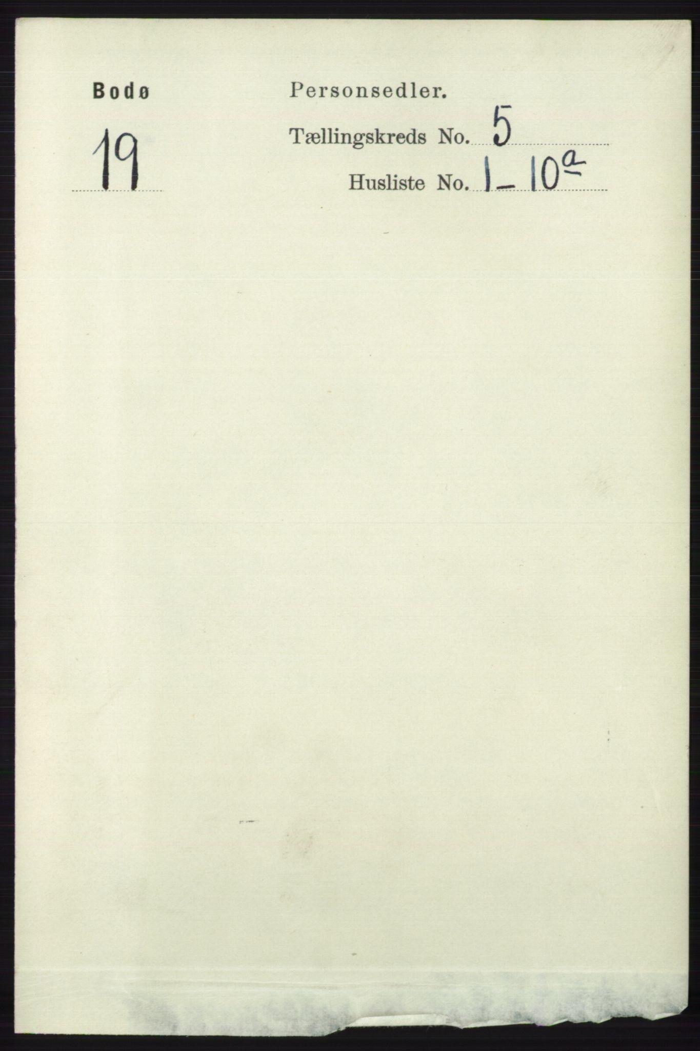 RA, Folketelling 1891 for 1804 Bodø kjøpstad, 1891, s. 3905