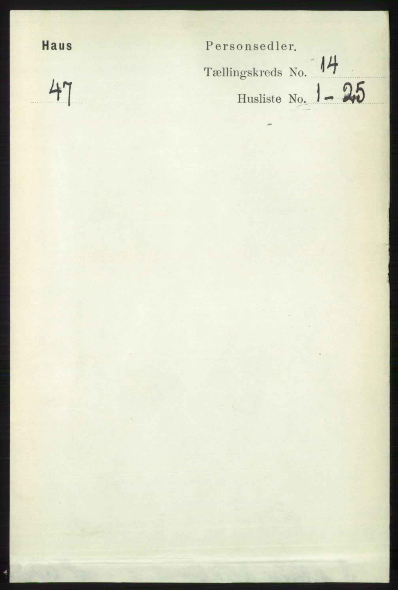 RA, Folketelling 1891 for 1250 Haus herred, 1891, s. 5868
