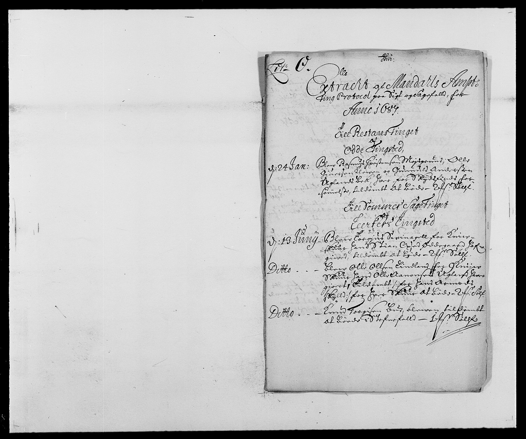 RA, Rentekammeret inntil 1814, Reviderte regnskaper, Fogderegnskap, R42/L2542: Mandal fogderi, 1685-1687, s. 192