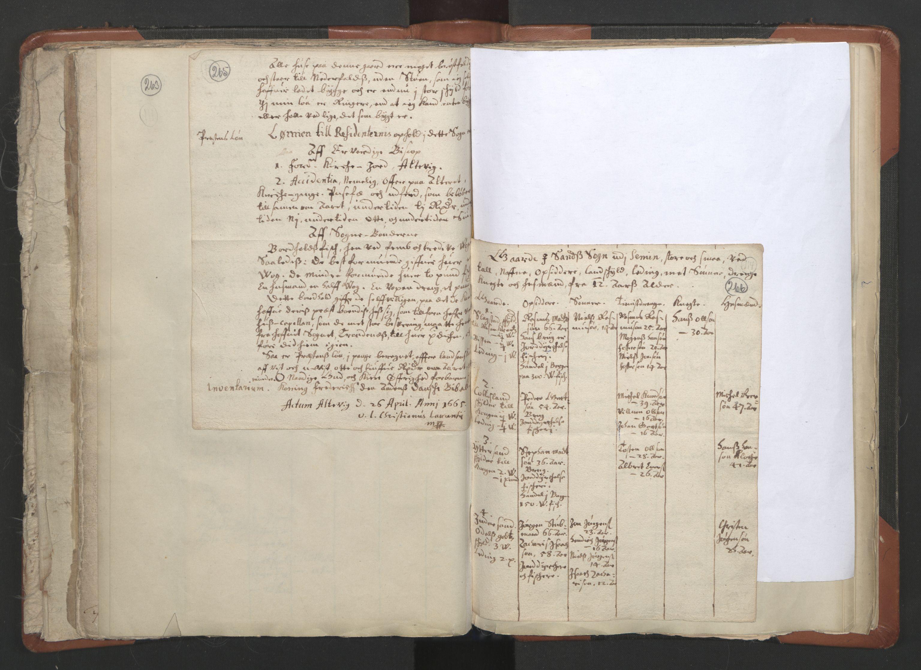 RA, Sogneprestenes manntall 1664-1666, nr. 36: Lofoten og Vesterålen prosti, Senja prosti og Troms prosti, 1664-1666, s. 265-266