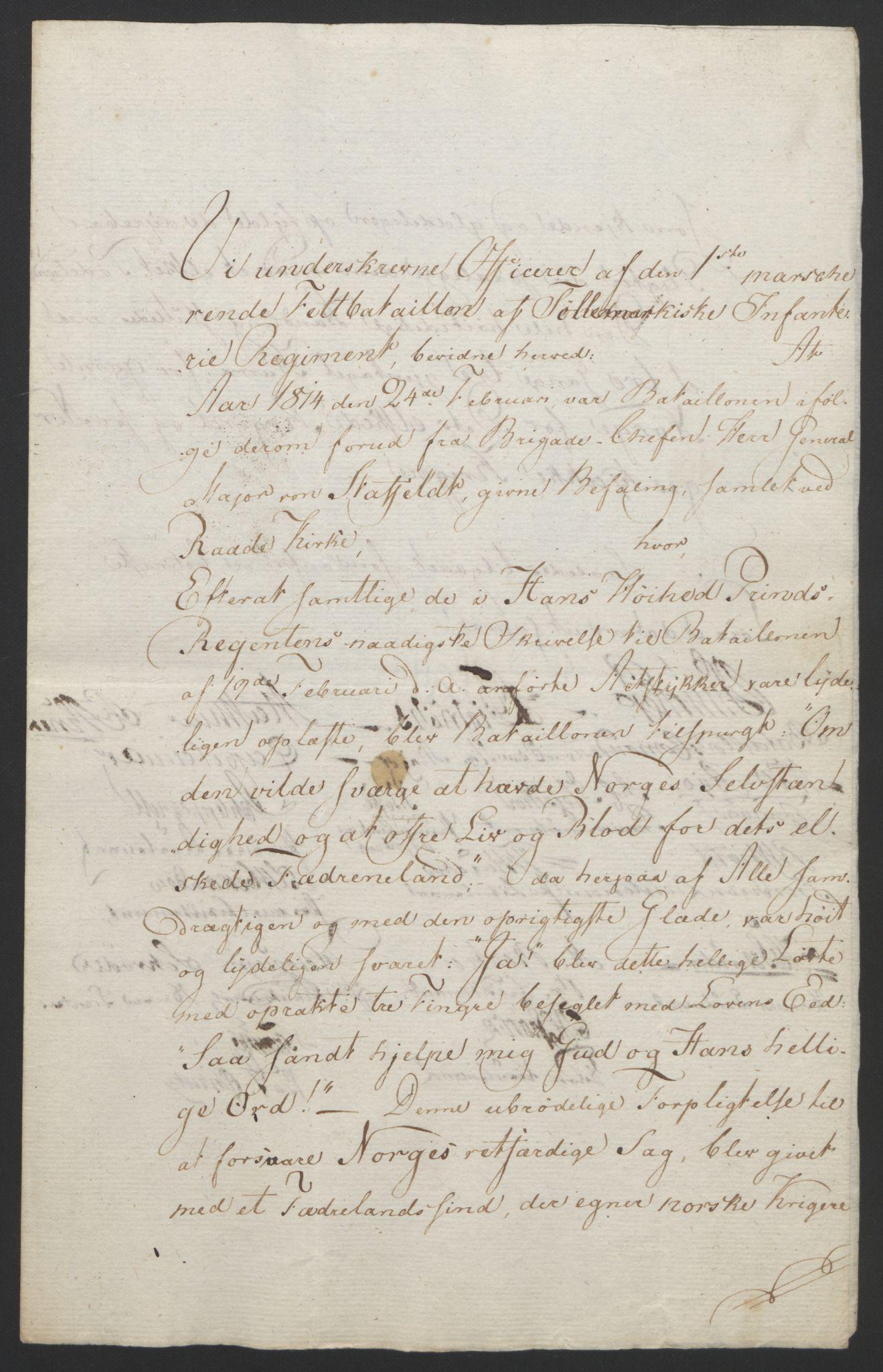 RA, Statsrådssekretariatet, D/Db/L0007: Fullmakter for Eidsvollsrepresentantene i 1814. , 1814, s. 101