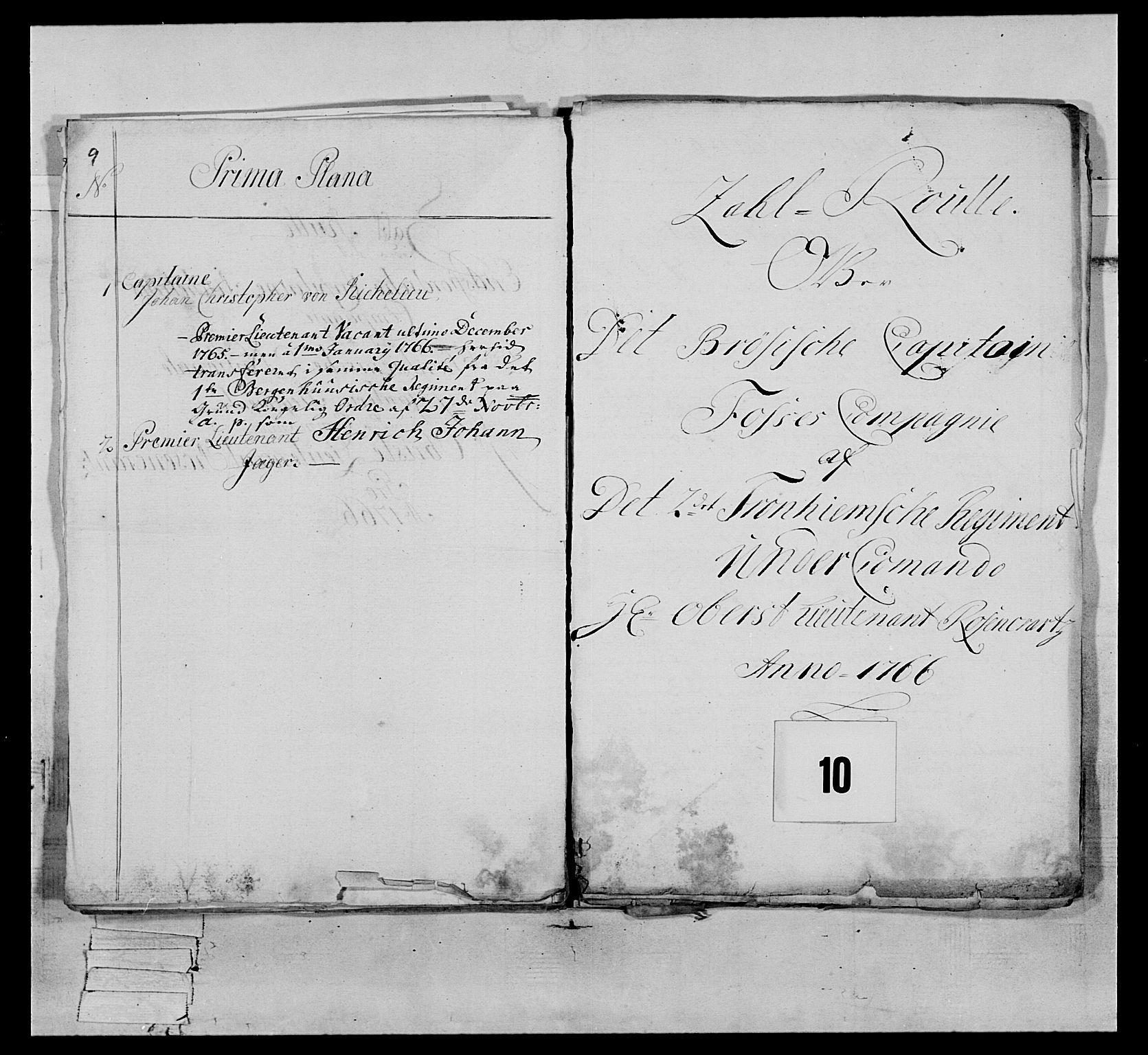 RA, Generalitets- og kommissariatskollegiet, Det kongelige norske kommissariatskollegium, E/Eh/L0076: 2. Trondheimske nasjonale infanteriregiment, 1766-1773, s. 23