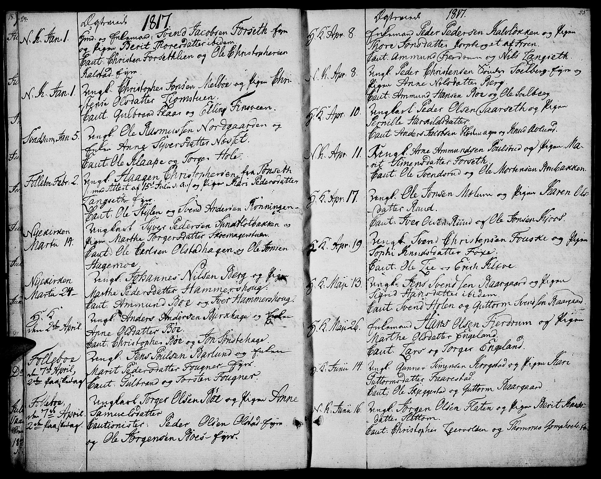 SAH, Gausdal prestekontor, Ministerialbok nr. 4, 1809-1817, s. 24-25