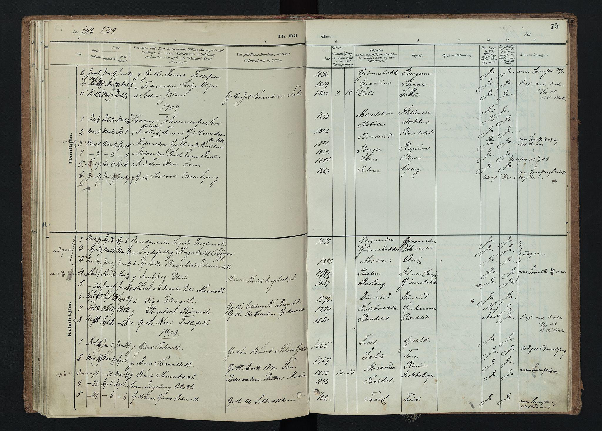 SAH, Nord-Aurdal prestekontor, Ministerialbok nr. 15, 1896-1914, s. 75