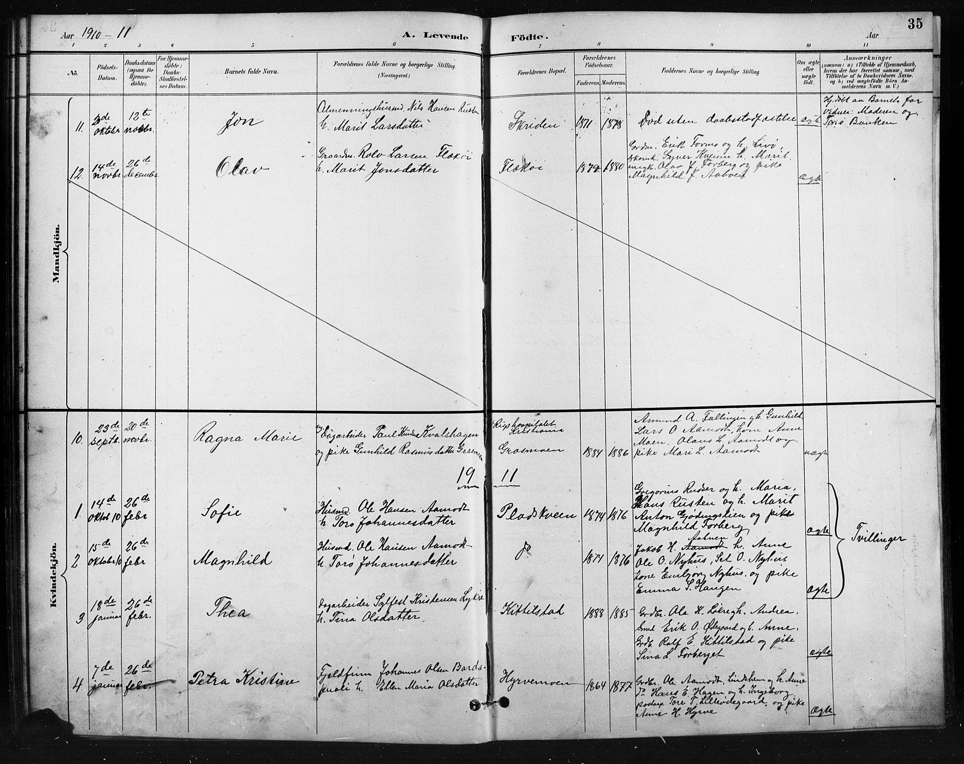 SAH, Skjåk prestekontor, Klokkerbok nr. 4, 1895-1921, s. 35
