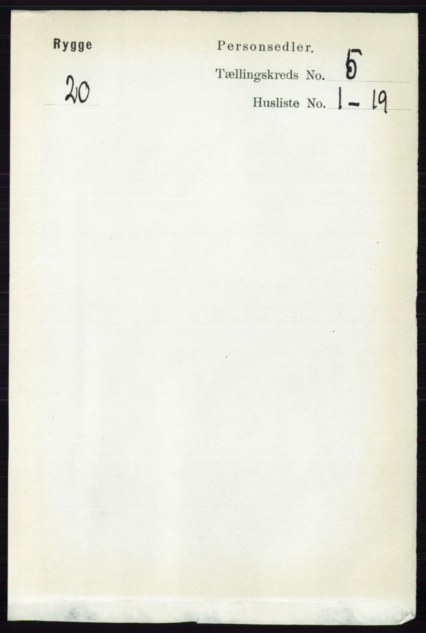 RA, Folketelling 1891 for 0136 Rygge herred, 1891, s. 2831