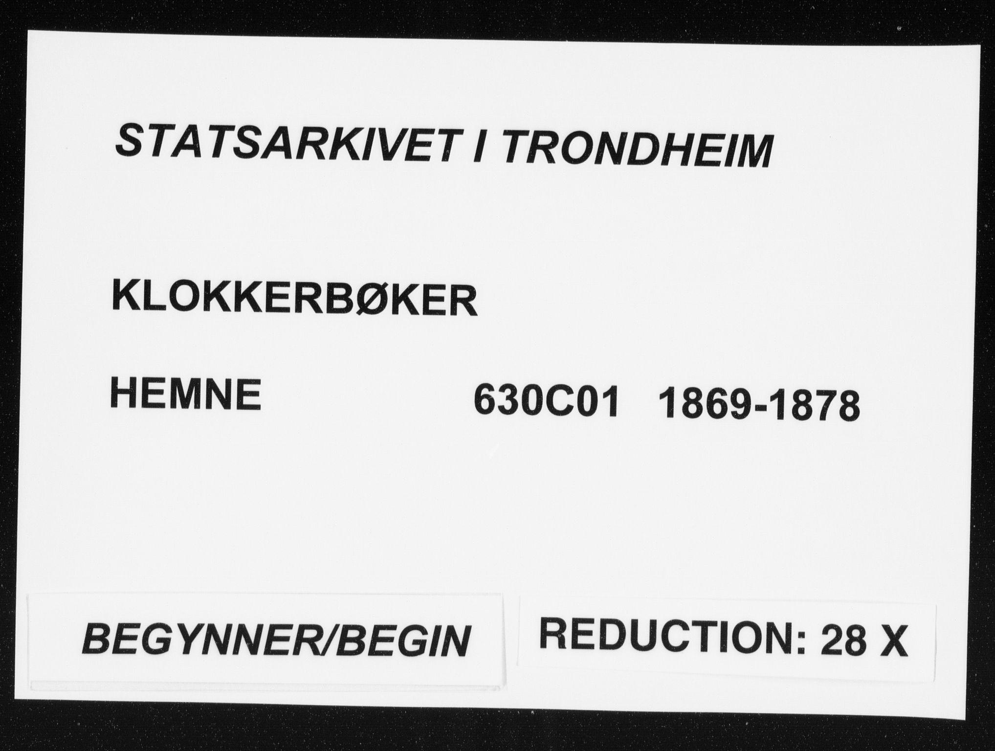 SAT, Ministerialprotokoller, klokkerbøker og fødselsregistre - Sør-Trøndelag, 630/L0503: Klokkerbok nr. 630C01, 1869-1878